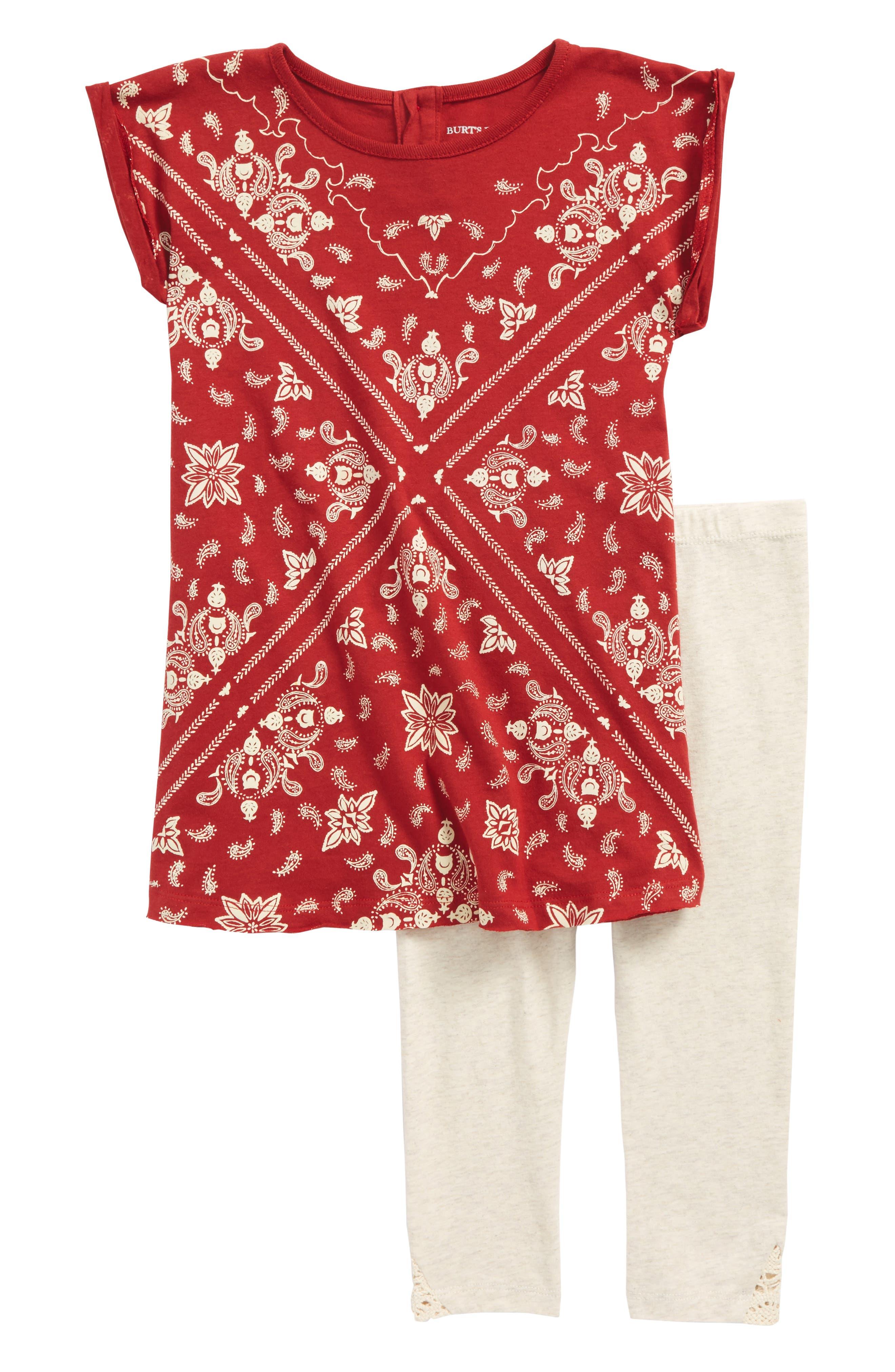 Print Tee & Leggings Set,                         Main,                         color, Red Barn