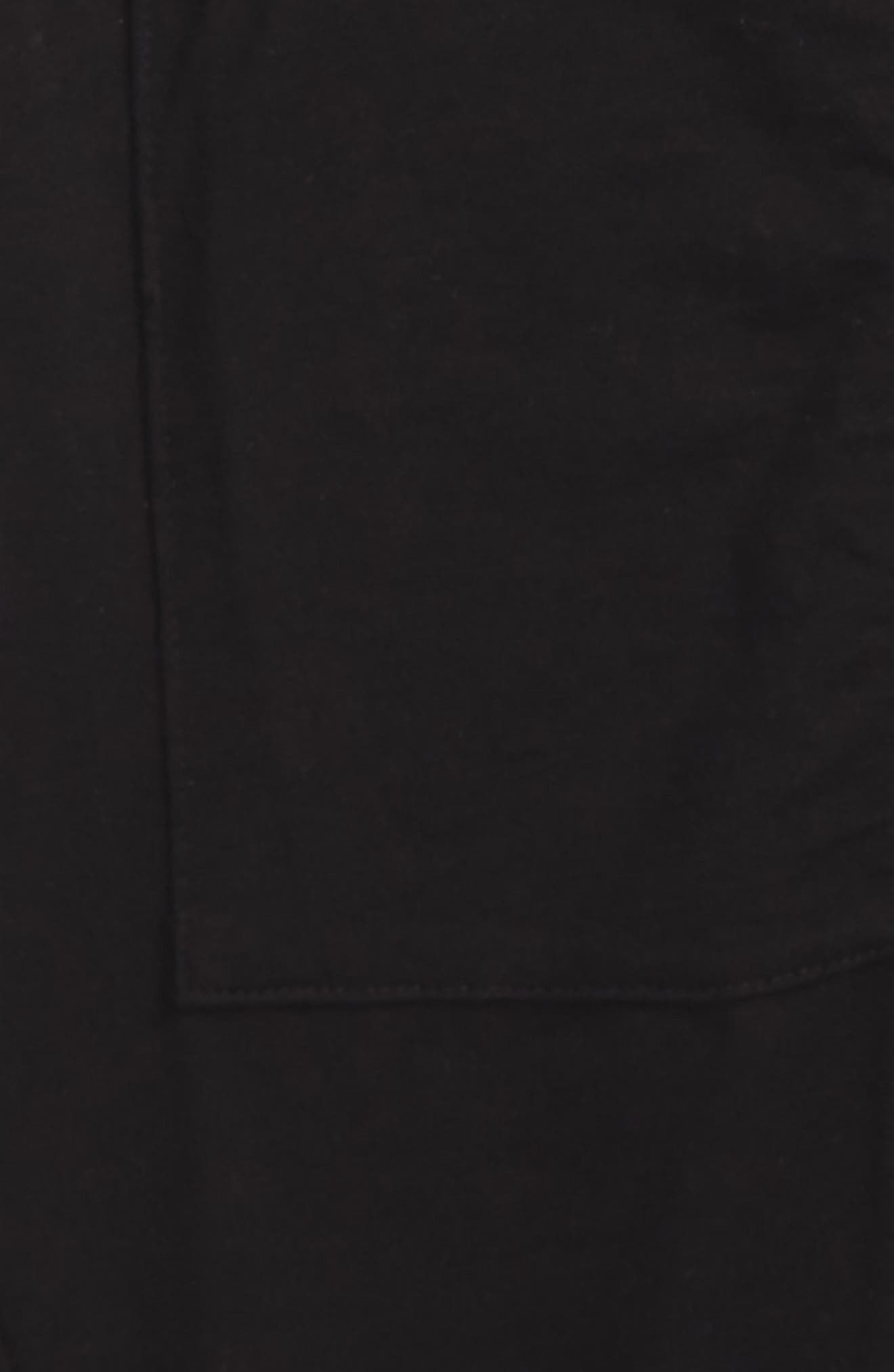 Maxi Short Sleeve Hoodie,                             Alternate thumbnail 2, color,                             Black