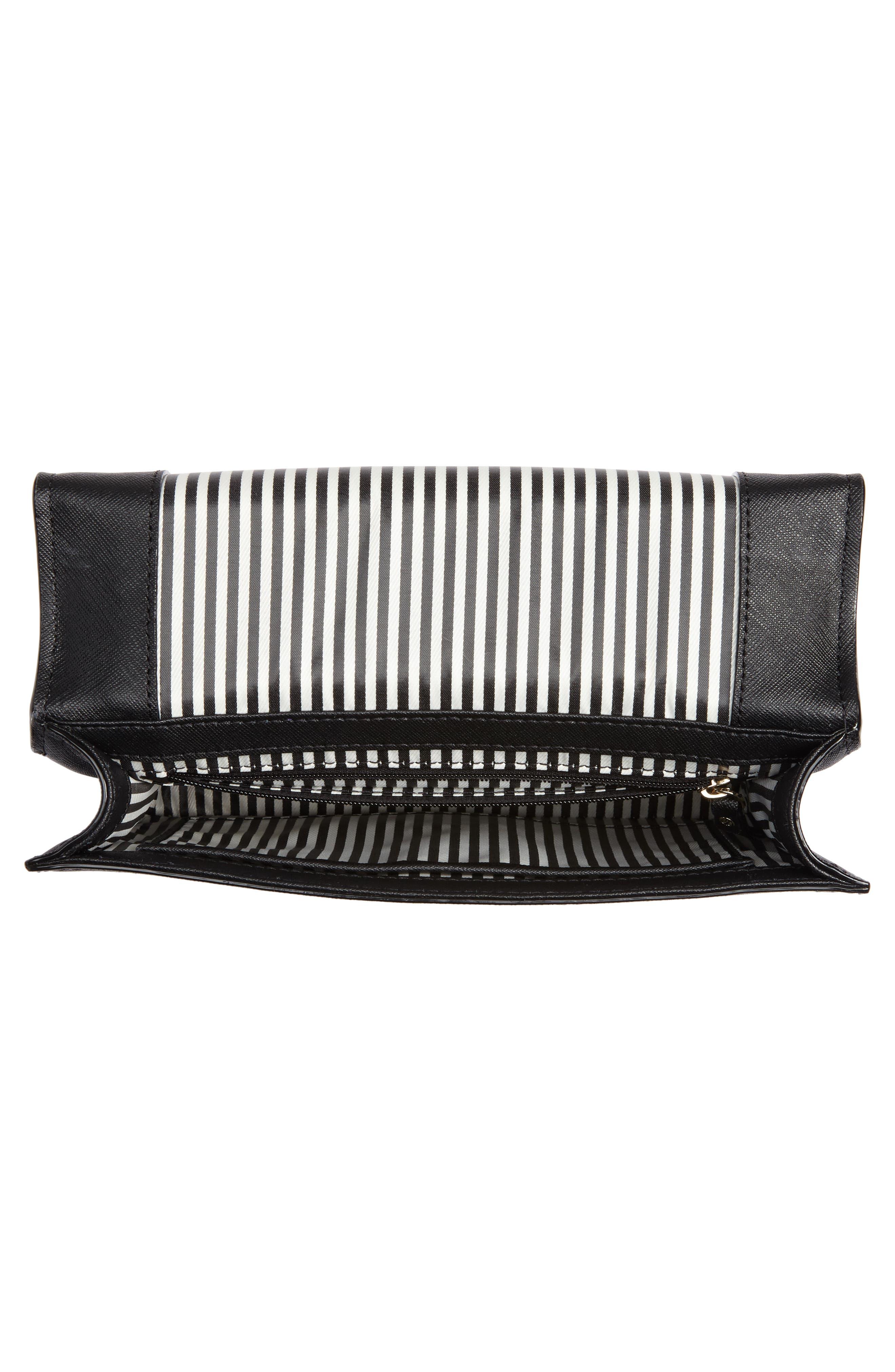 cameron street marci leather shoulder bag,                             Alternate thumbnail 6, color,                             Black