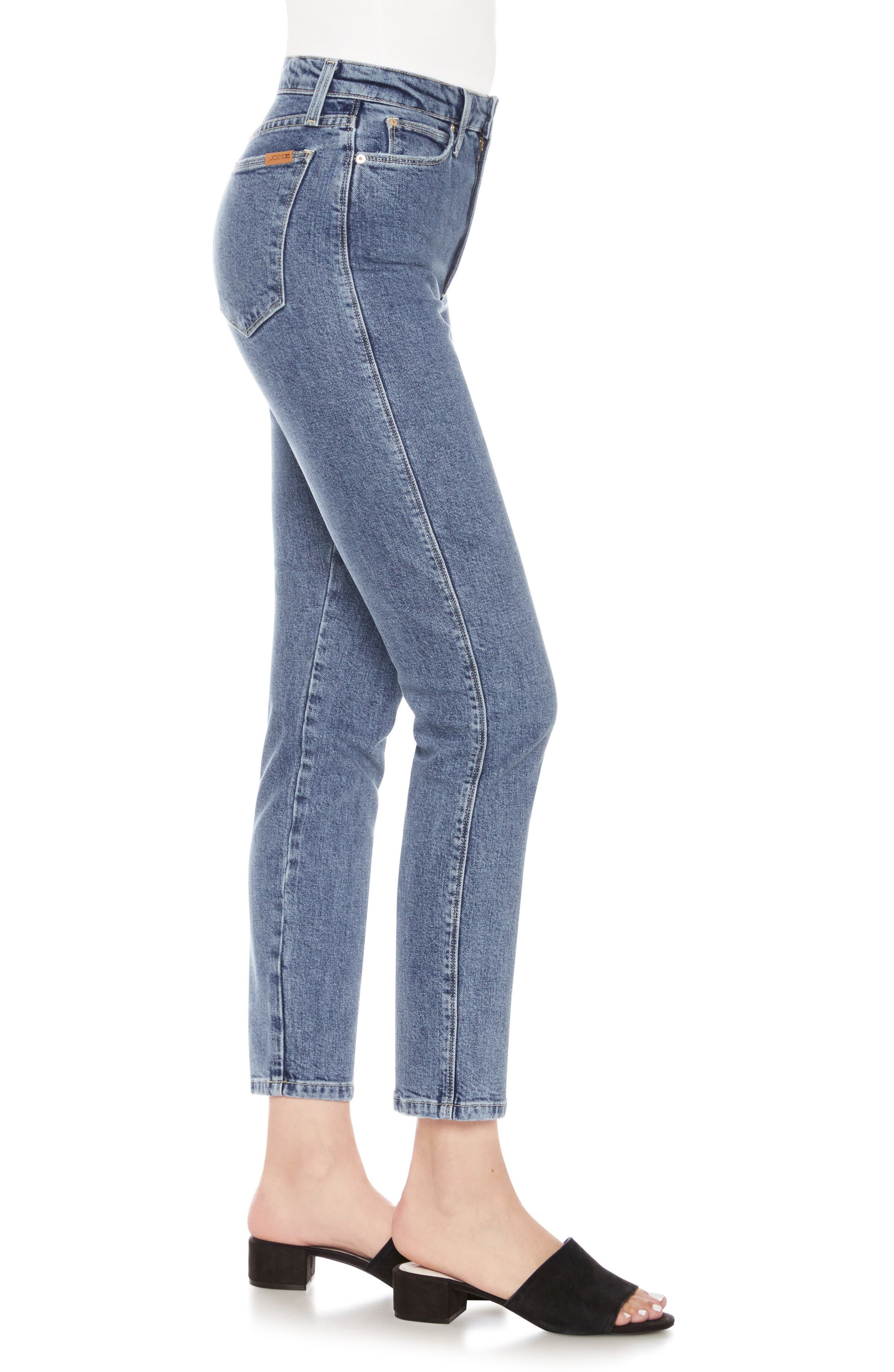 Kass Ankle Skinny Jeans,                             Alternate thumbnail 3, color,                             Alaia