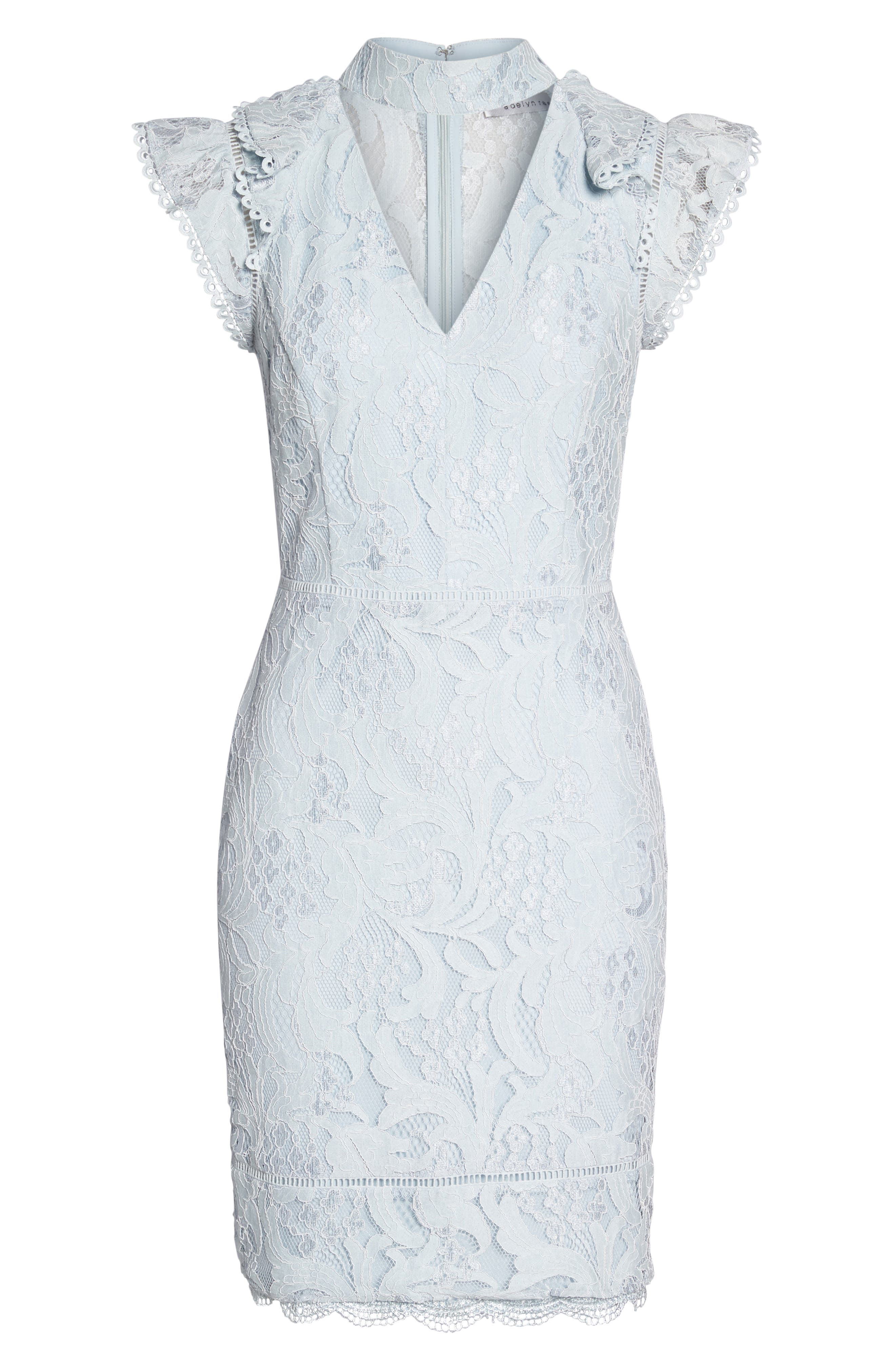 Alternate Image 6  - Adelyn Rae Delilah Lace Sheath Dress