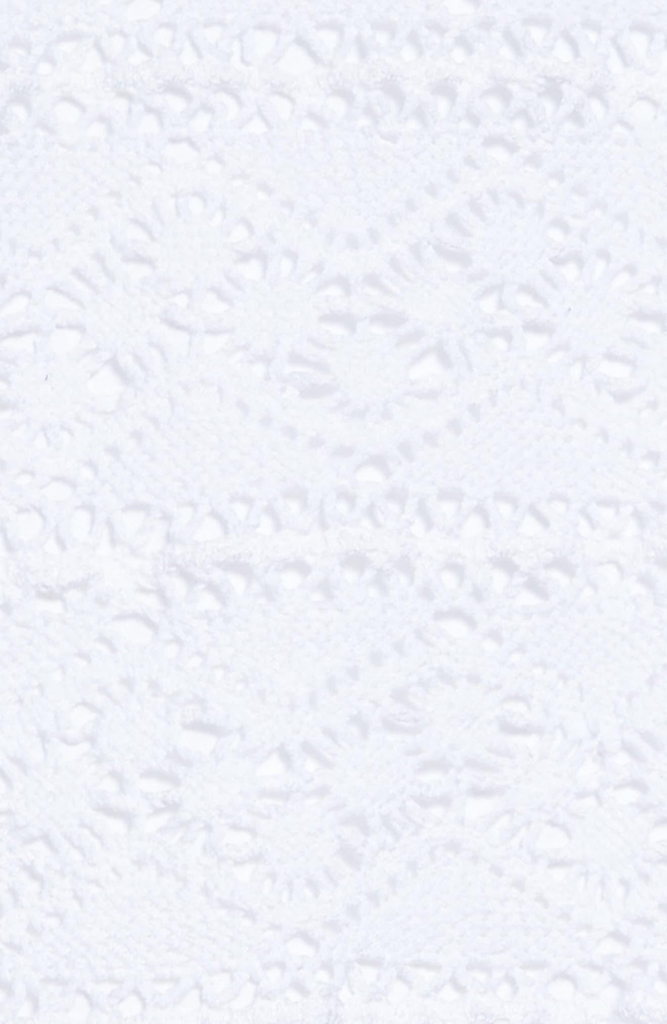 Crochet Organic Cotton Dress,                             Alternate thumbnail 3, color,                             Cloud