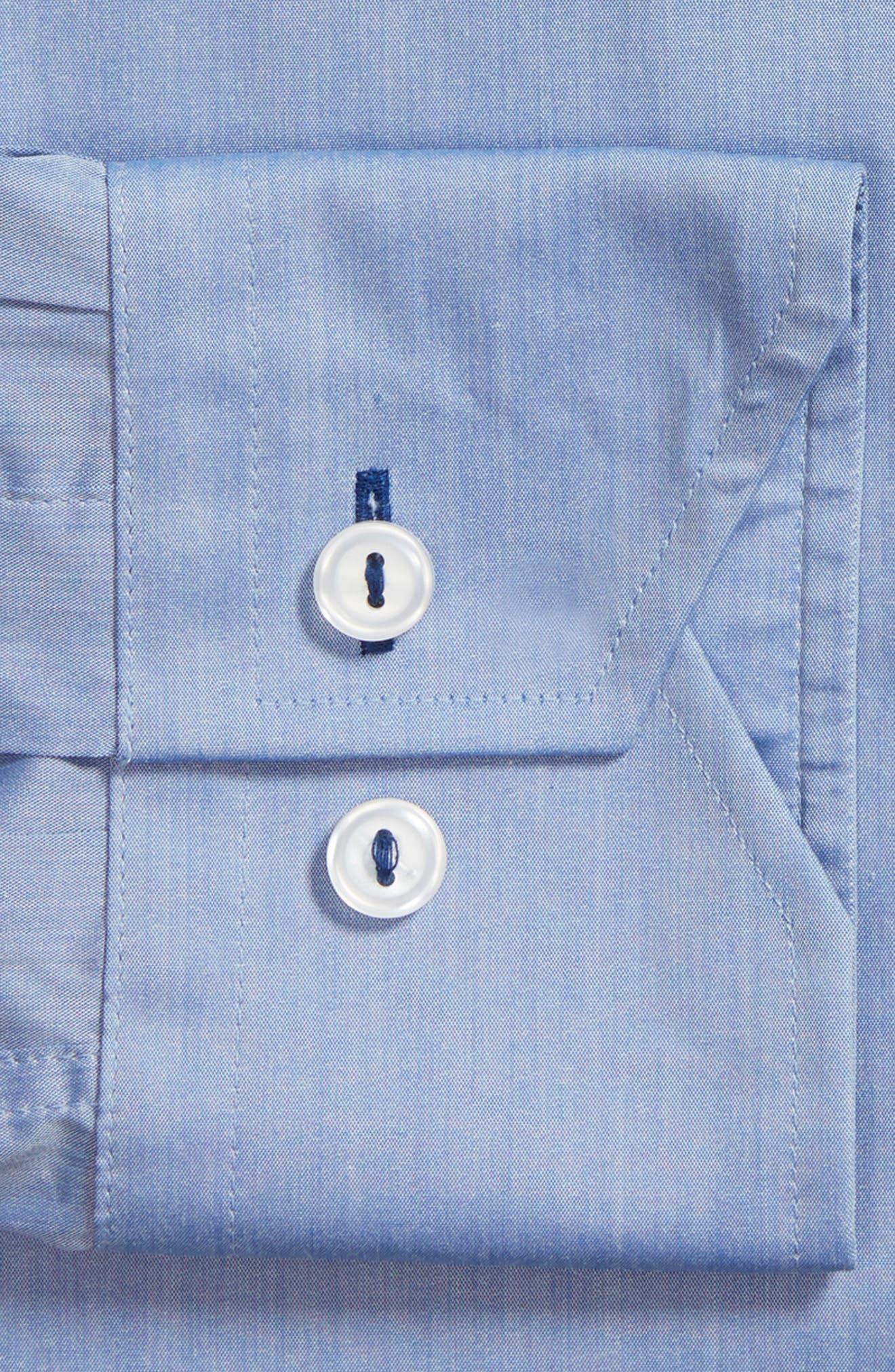 Trim Fit Dress Shirt,                             Alternate thumbnail 5, color,                             Blue