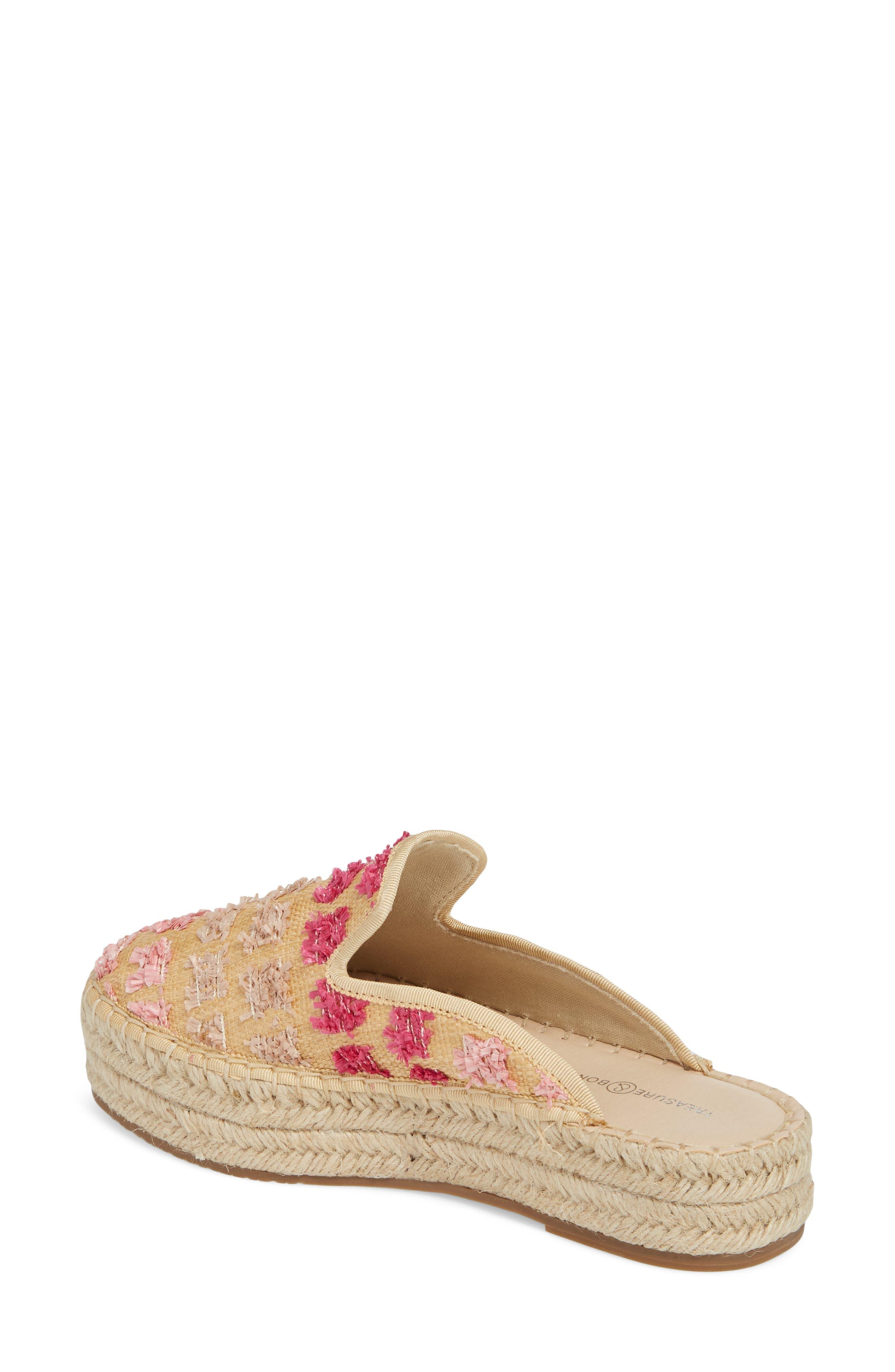 Marlowe Tufted Espadrille Loafer Mule,                             Alternate thumbnail 2, color,                             Pink Multi Faux Raffia