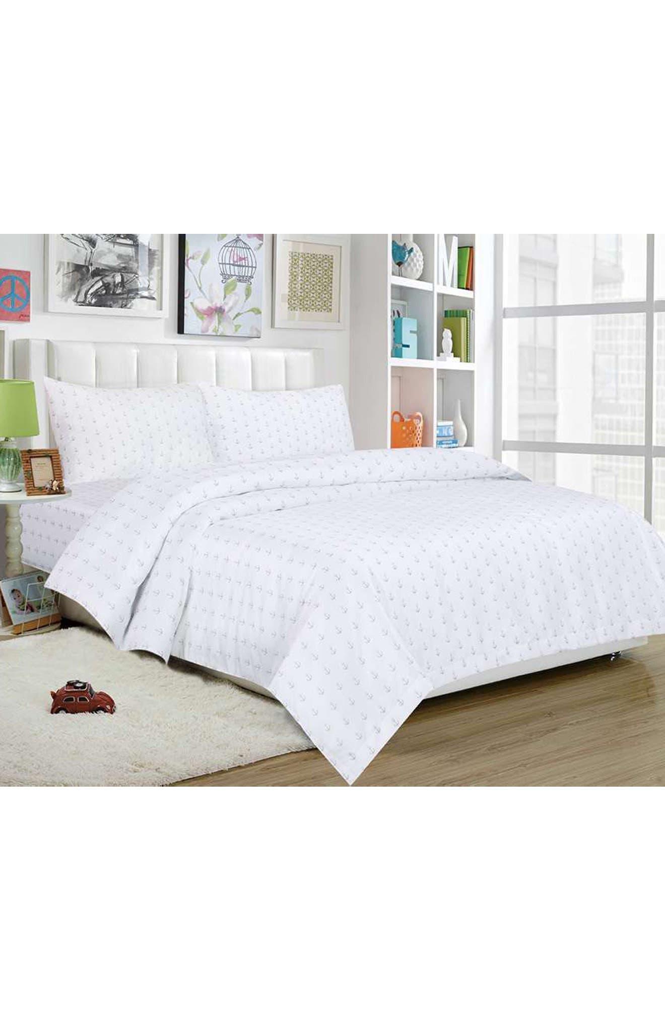 Ahoy Sheet Set,                         Main,                         color, White-Grey