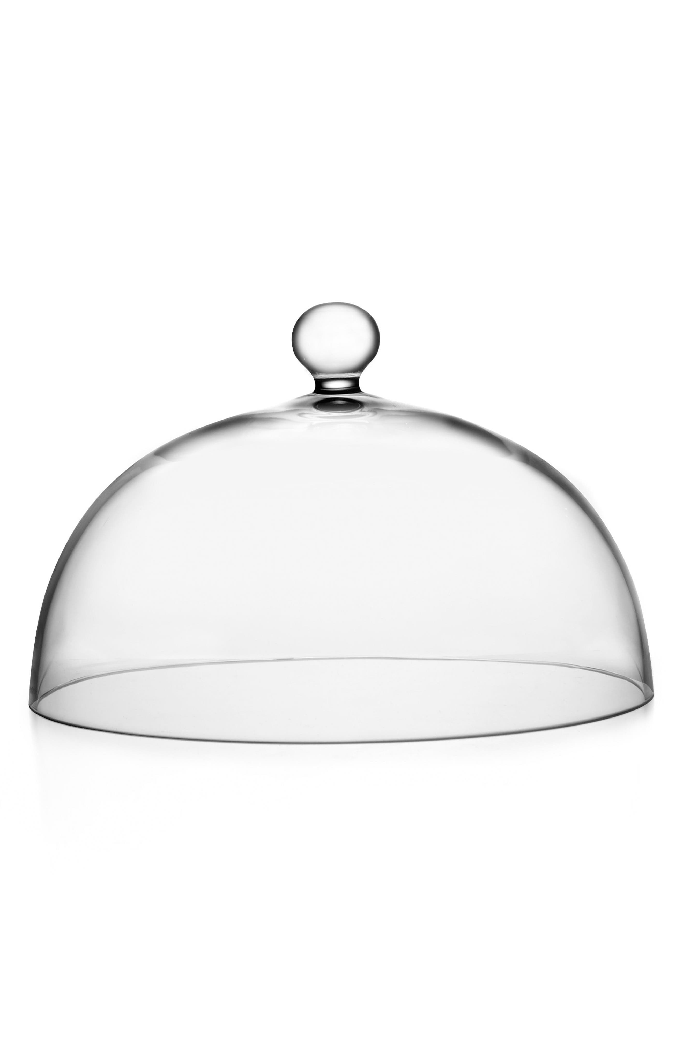Moderne Large Cake Dome,                             Main thumbnail 1, color,                             Clear