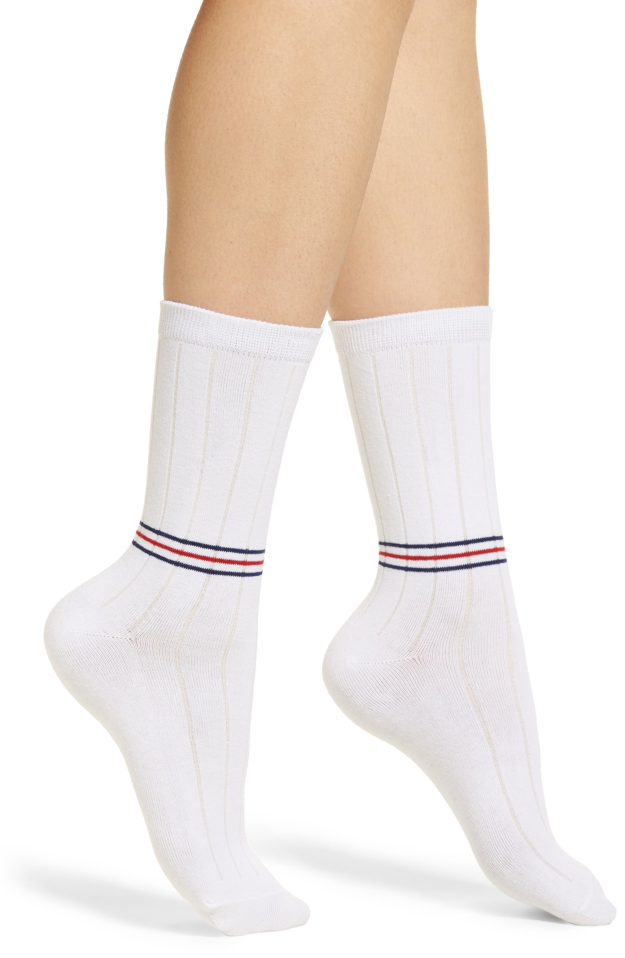 Rocky Classic Crew Socks,                             Main thumbnail 1, color,                             White