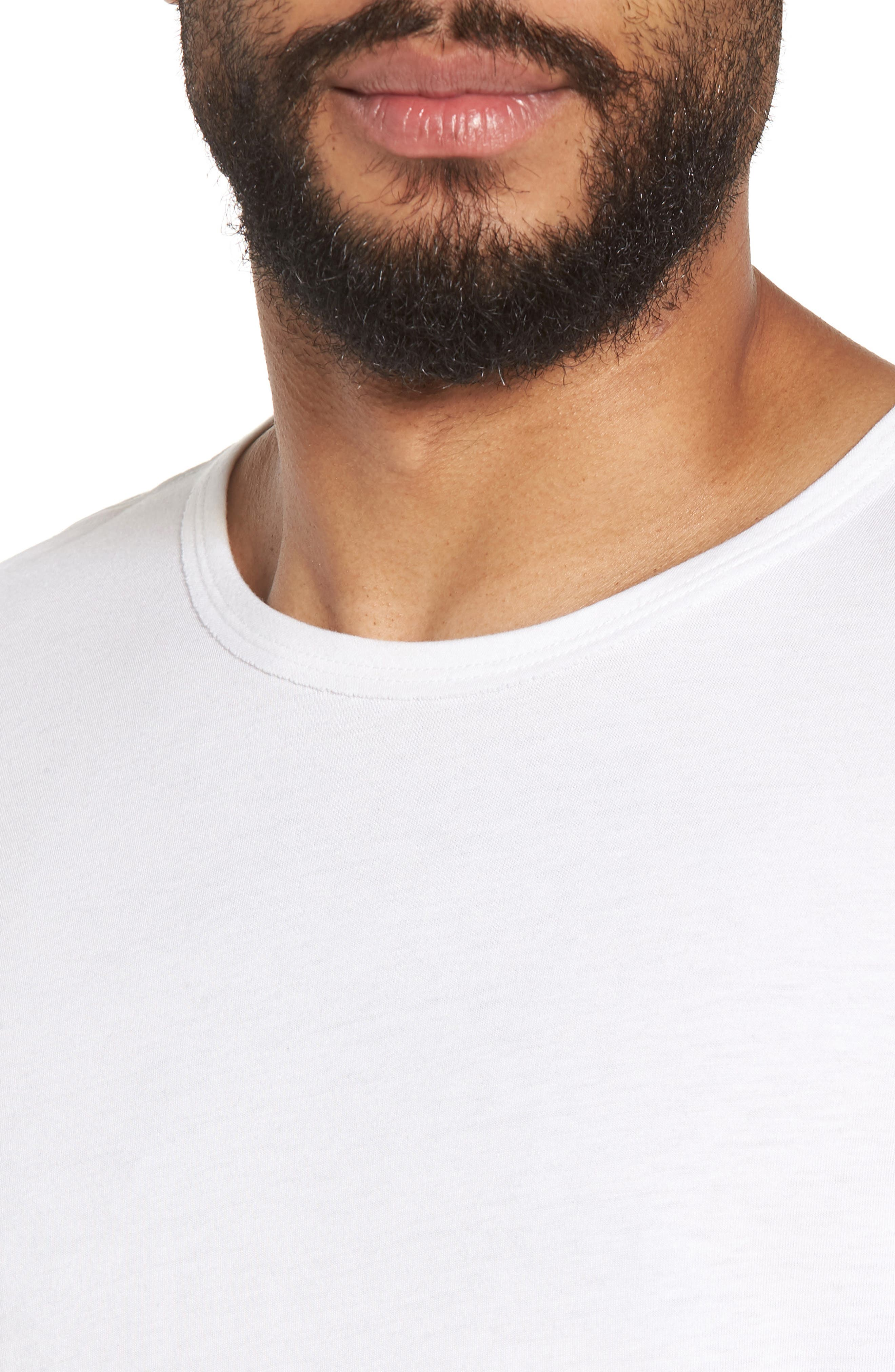 Alternate Image 4  - Vince Reverse Hem Slim Fit T-Shirt