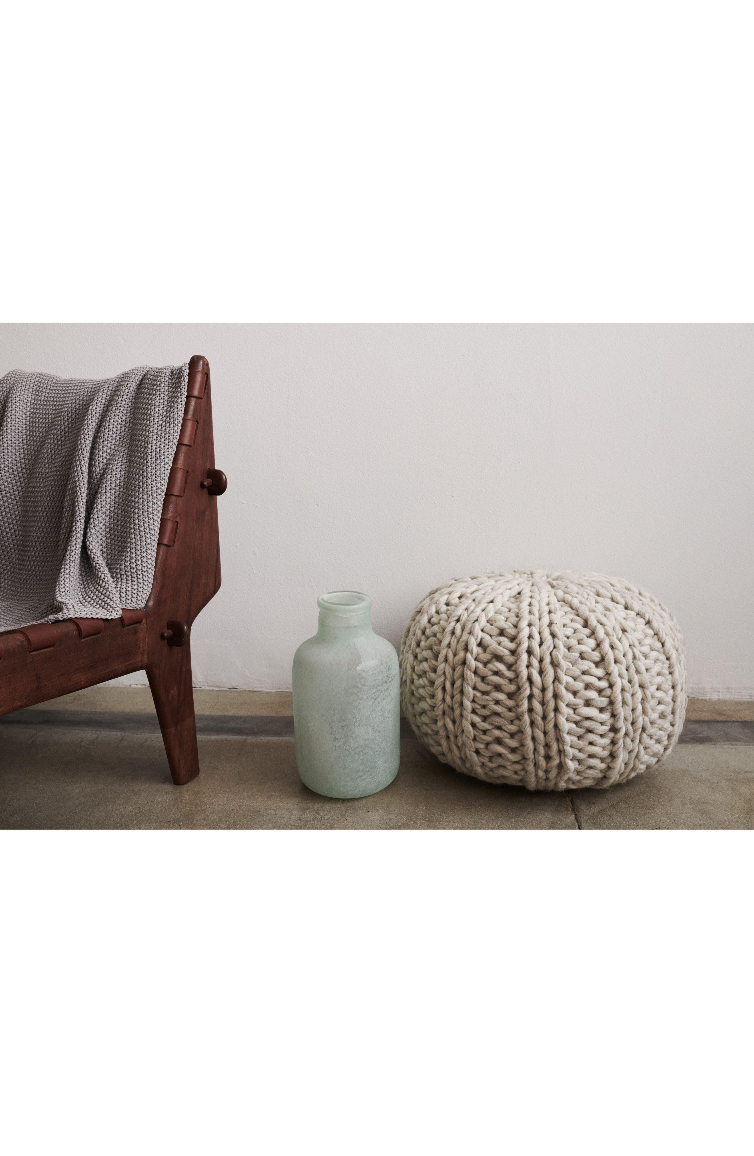 Chunky Knit Pouf,                             Alternate thumbnail 3, color,