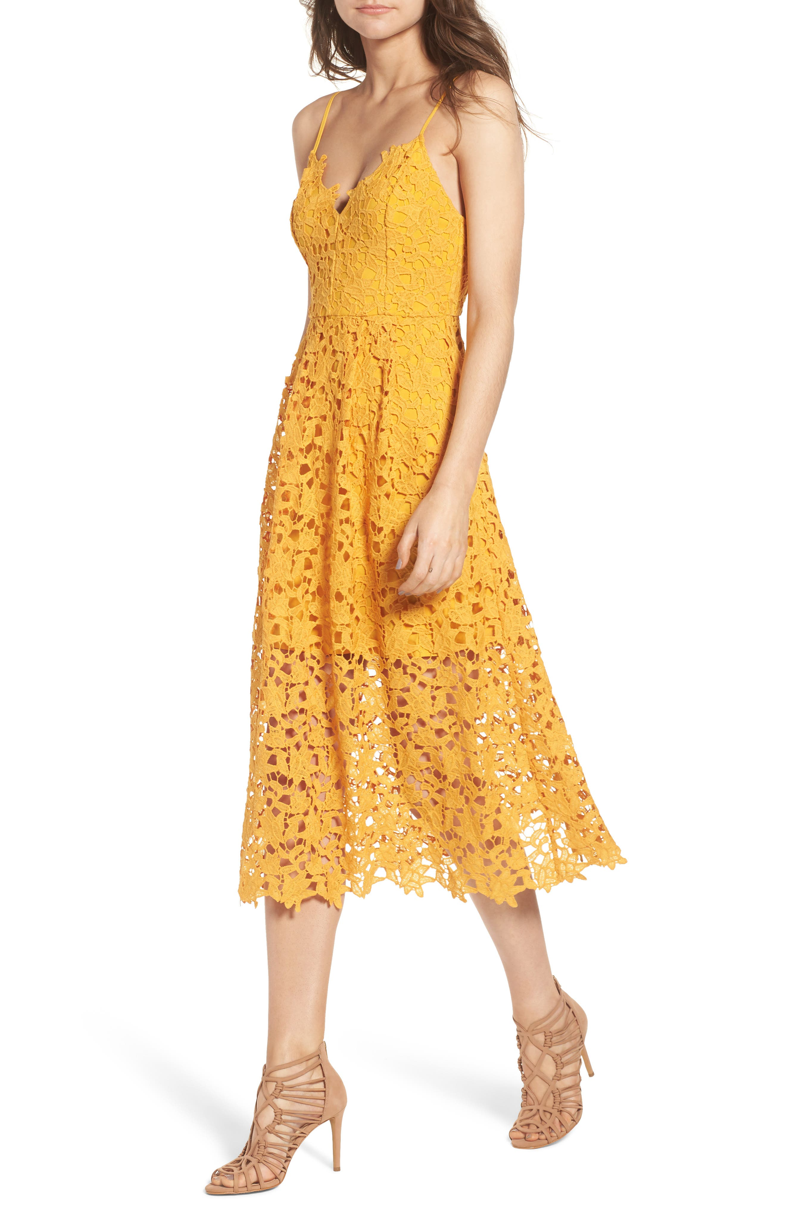 Dress for Women, Evening Cocktail Party On Sale, Yellow, Silk, 2017, 12 Stella Jean