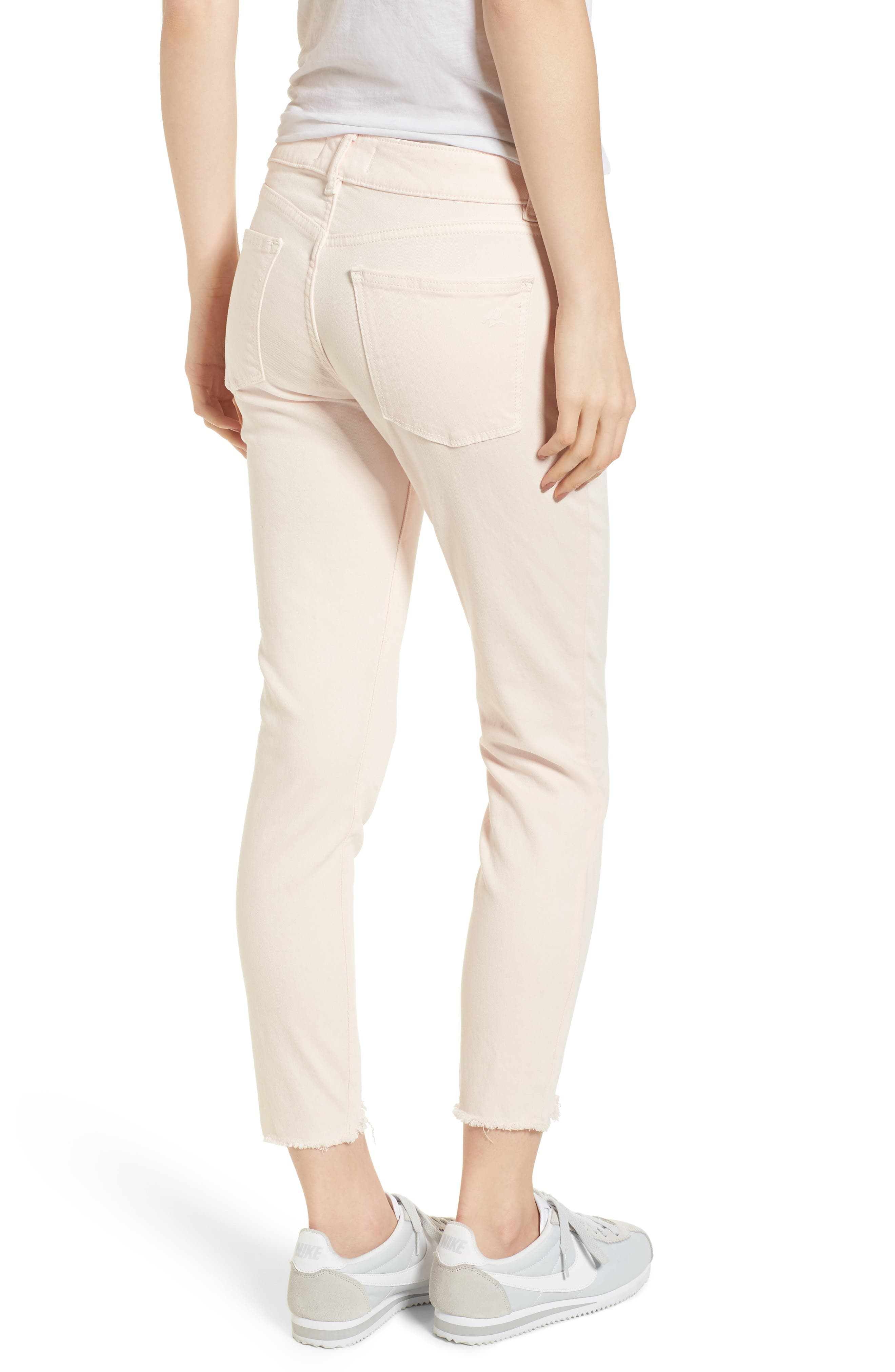 Florence Instasculpt Crop Skinny Jeans,                             Alternate thumbnail 2, color,                             Blush Pink
