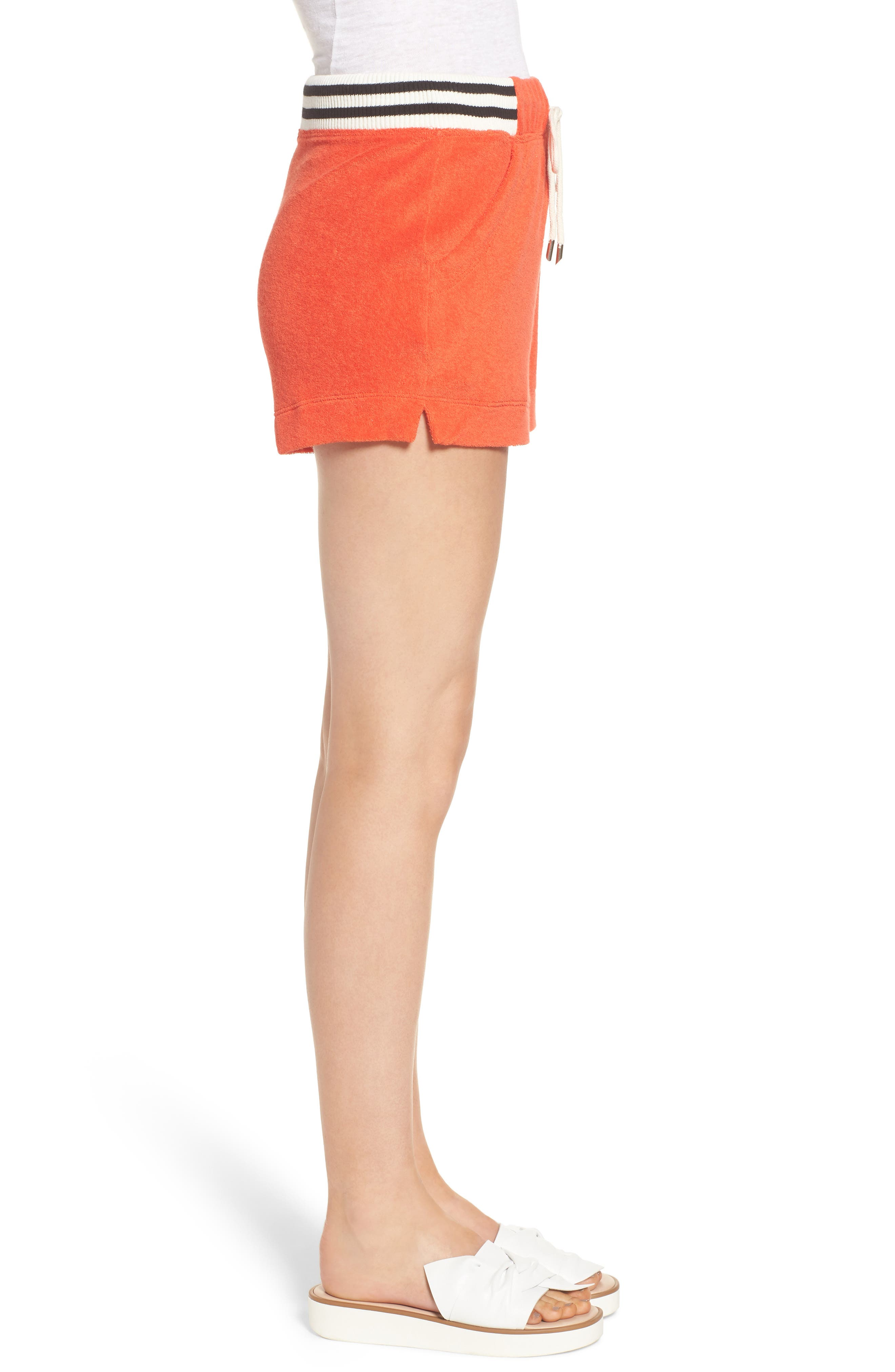 x Margherita Sportivo French Terry Shorts,                             Alternate thumbnail 3, color,                             Red