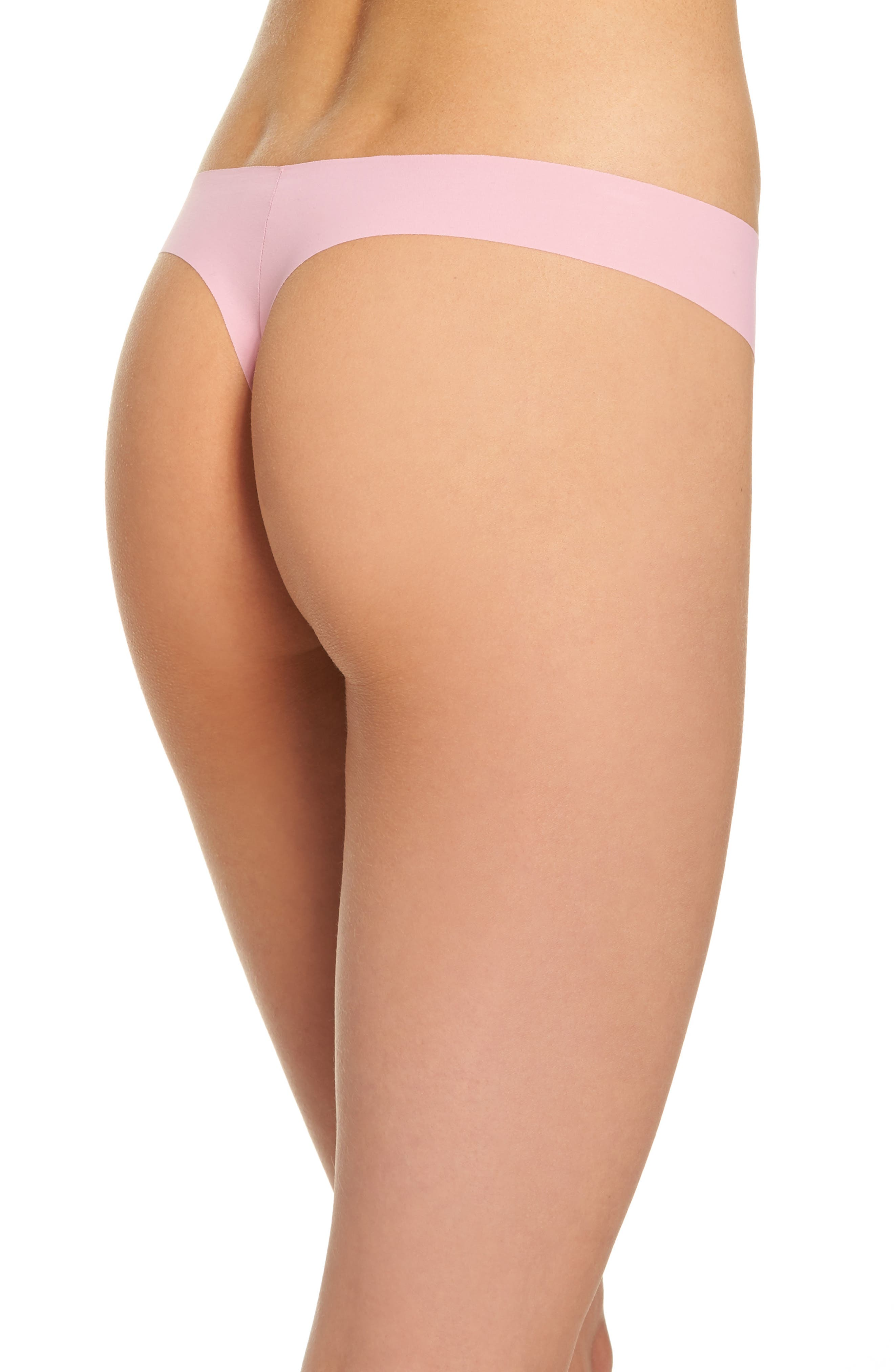 Alternate Image 2  - Calvin Klein 'Invisibles' Thong (3 for $33)