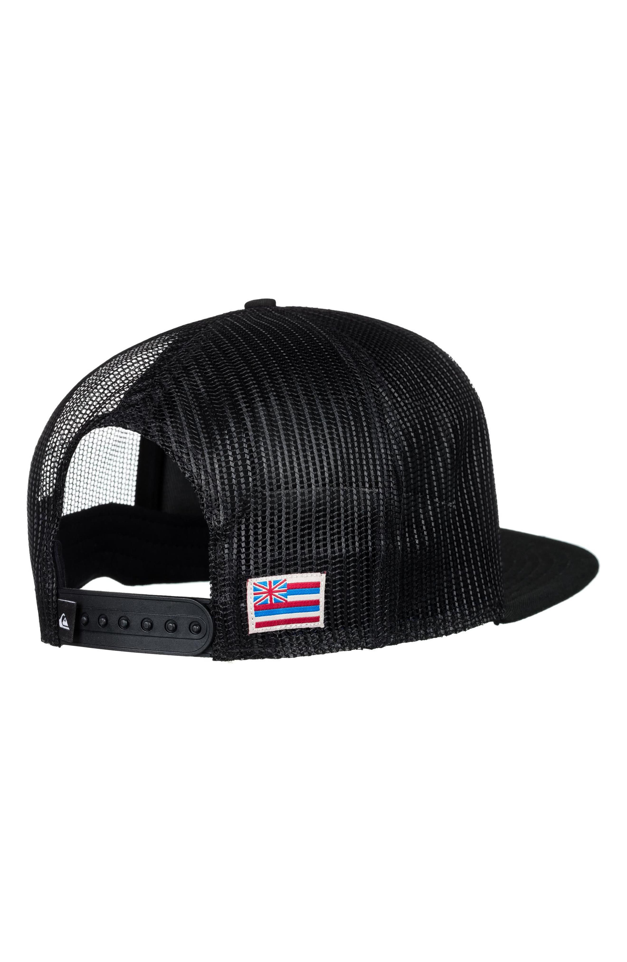 Hawaii Bonzer Trucker Hat,                             Alternate thumbnail 2, color,                             Black