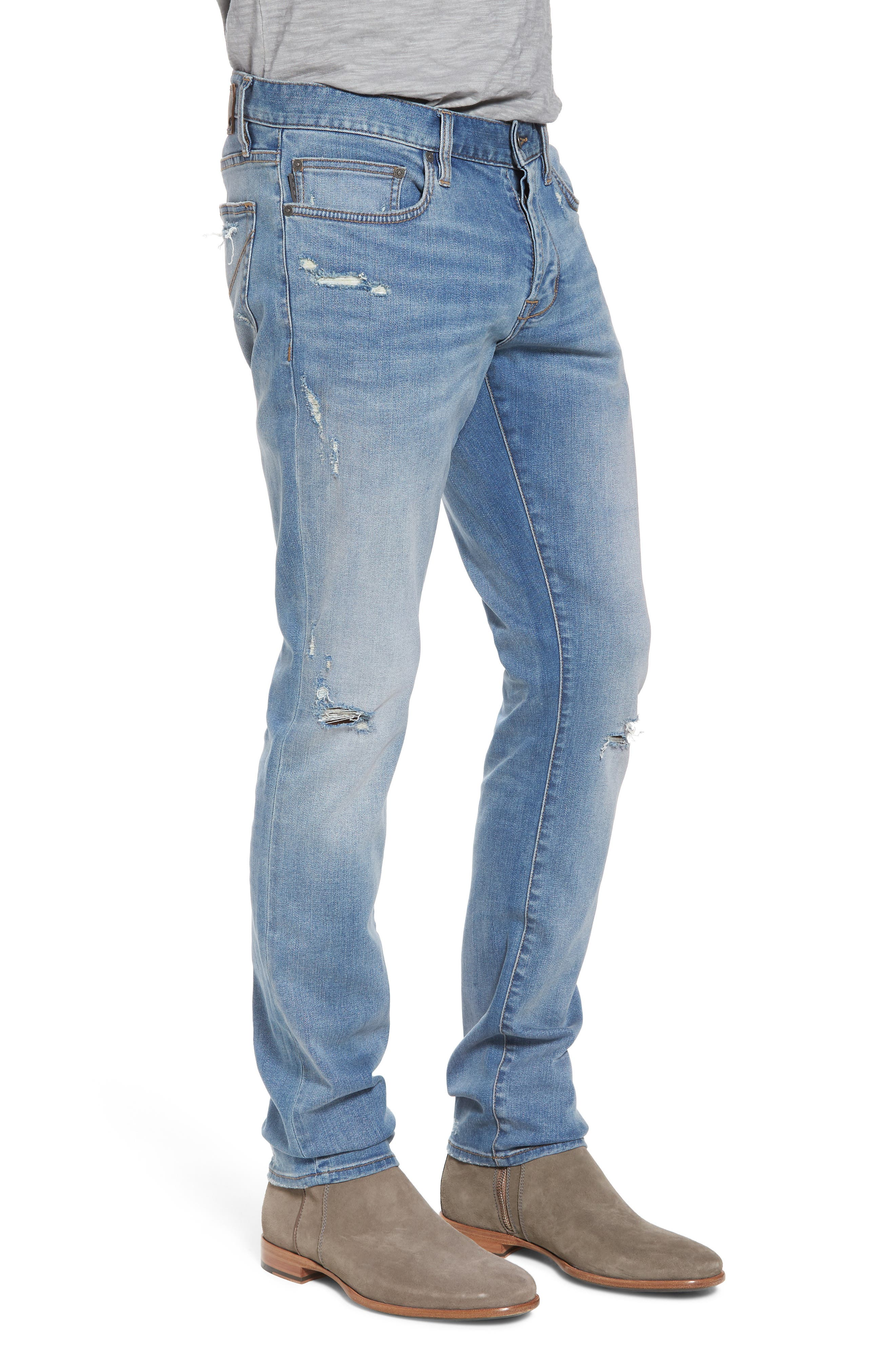 Wight Slim Fit Straight Leg Jeans,                             Alternate thumbnail 3, color,                             Atlantic Blue