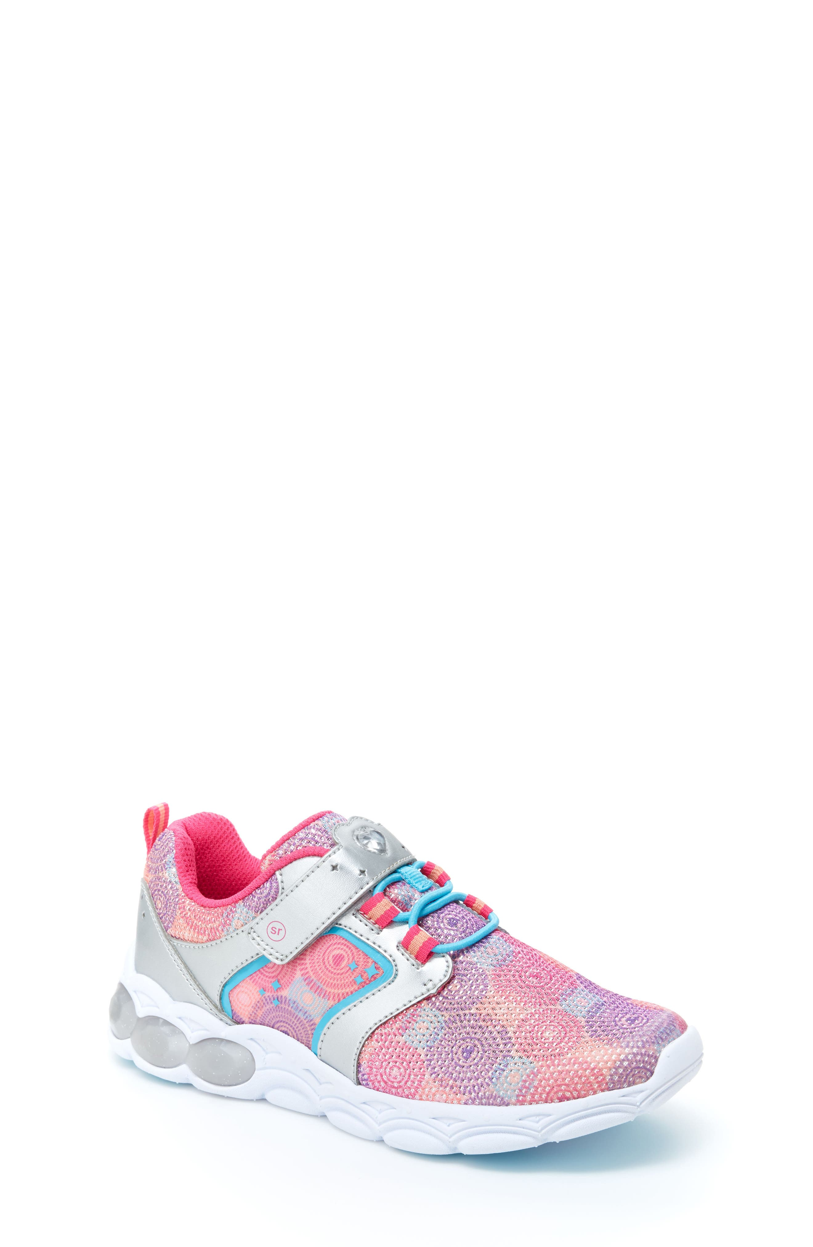 Lights Lively Light-Up Sneaker,                             Main thumbnail 1, color,                             Rainbow