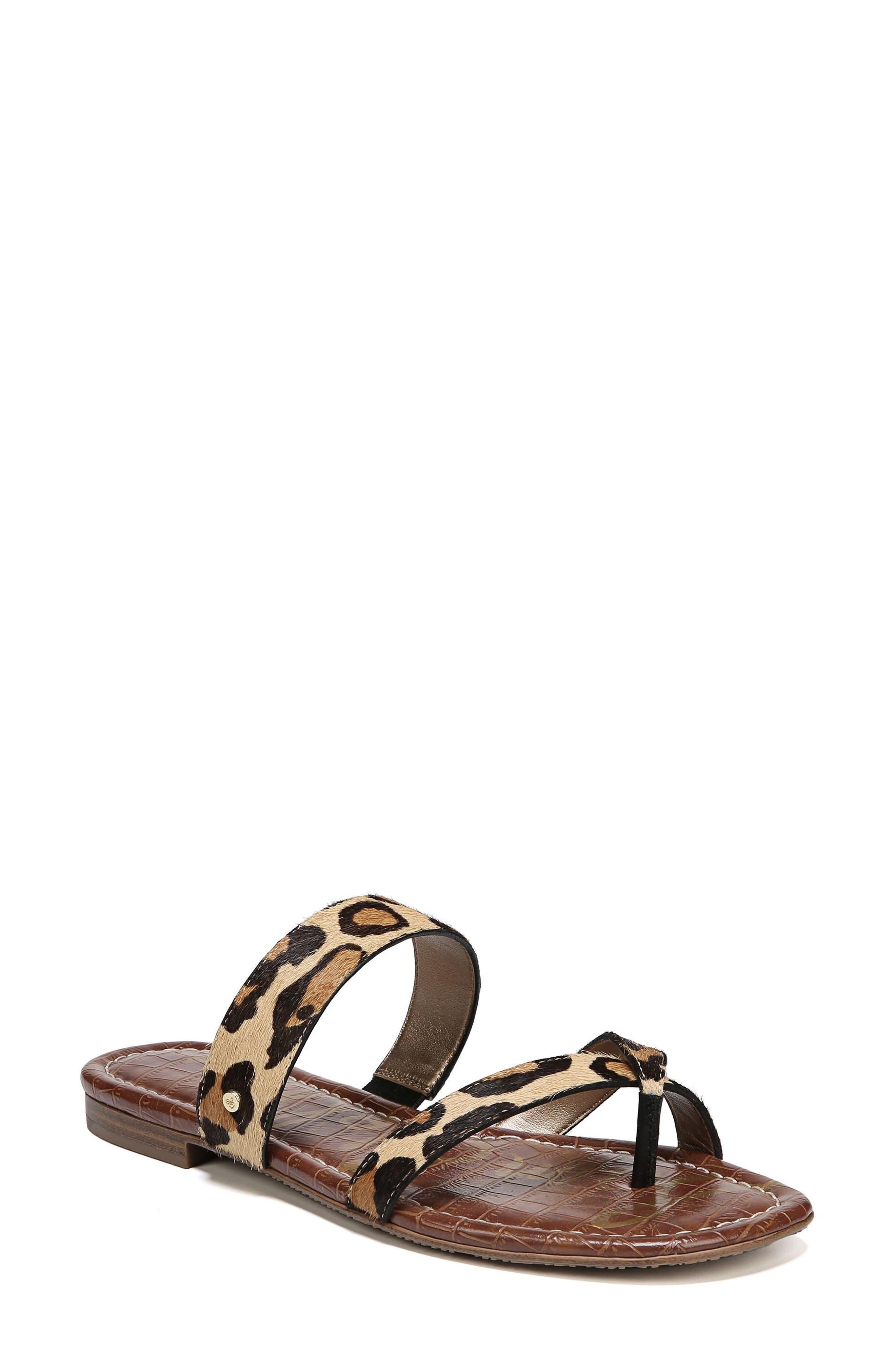 Bernice Genuine Calf Hair Sandal,                             Main thumbnail 1, color,                             New Nude Leopard Brahma Hair