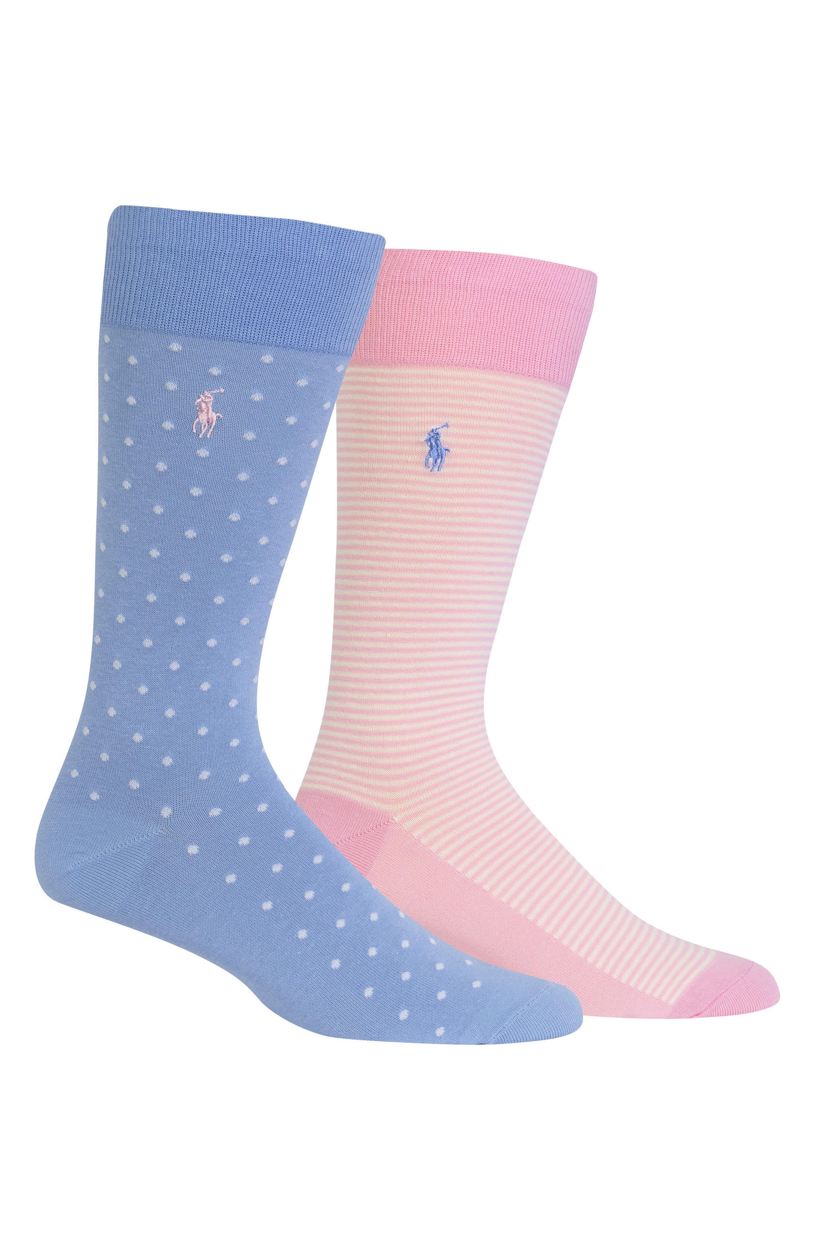 2-Pack Socks,                             Main thumbnail 1, color,                             Light Blue