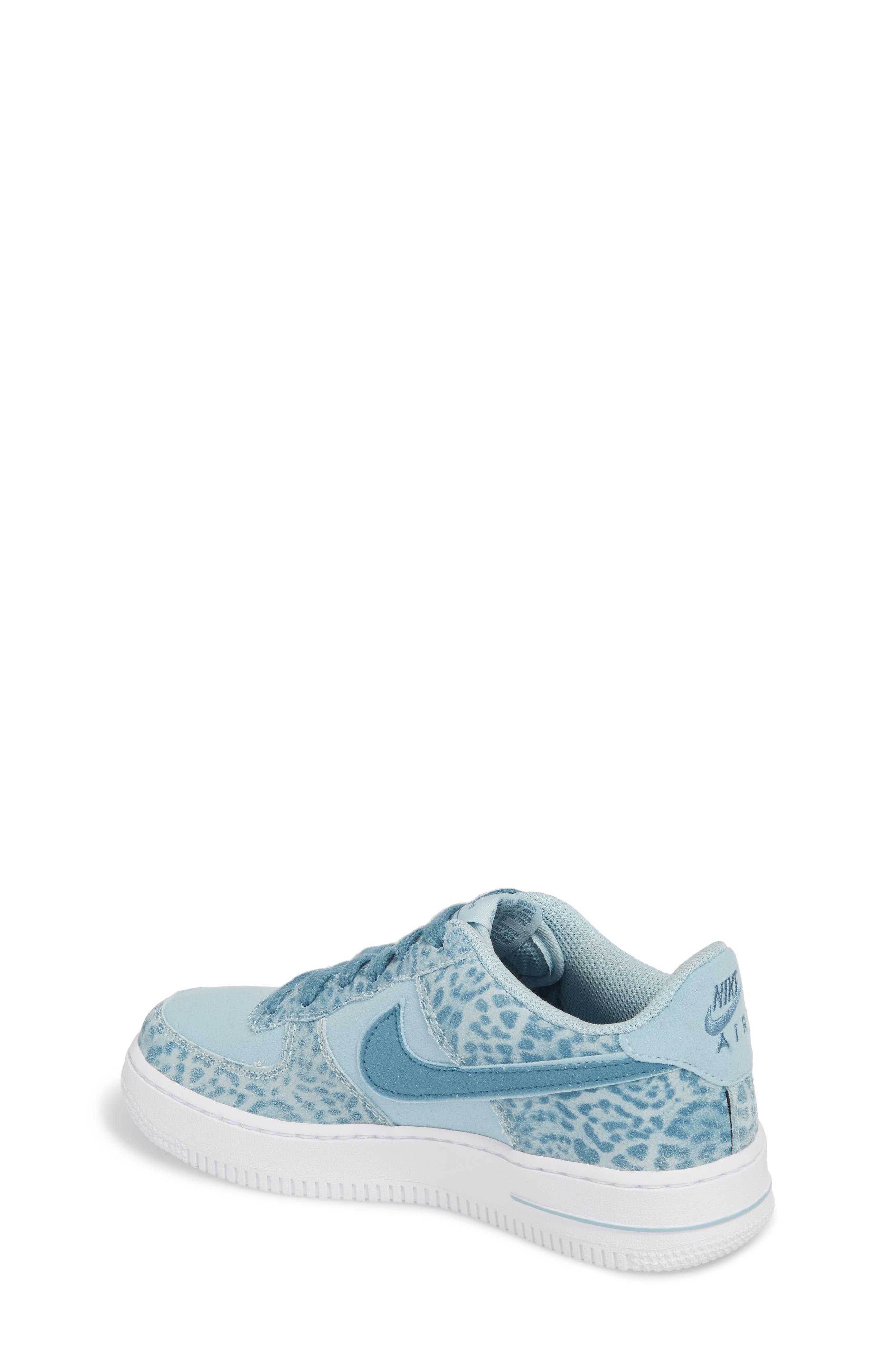 Air Force 1 LV8 Sneaker,                             Alternate thumbnail 2, color,                             Ocean Bliss/ Noise Aqua/ White