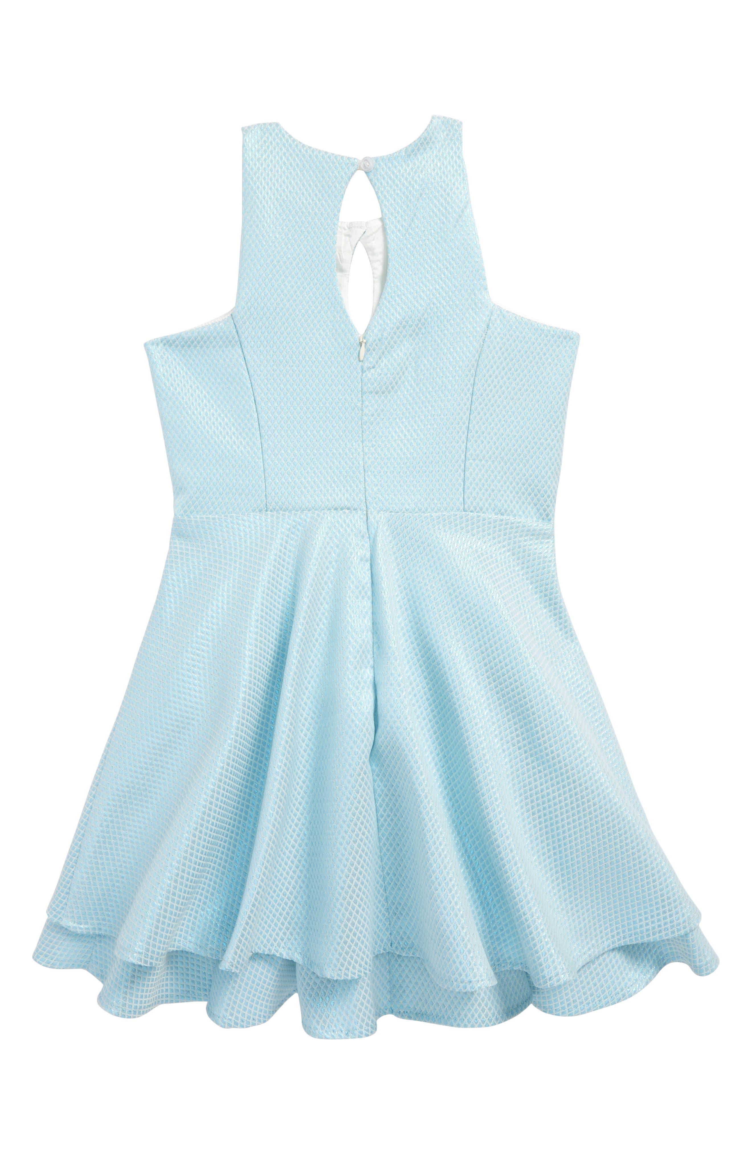 Sleeveless Party Dress,                             Alternate thumbnail 2, color,                             Blue