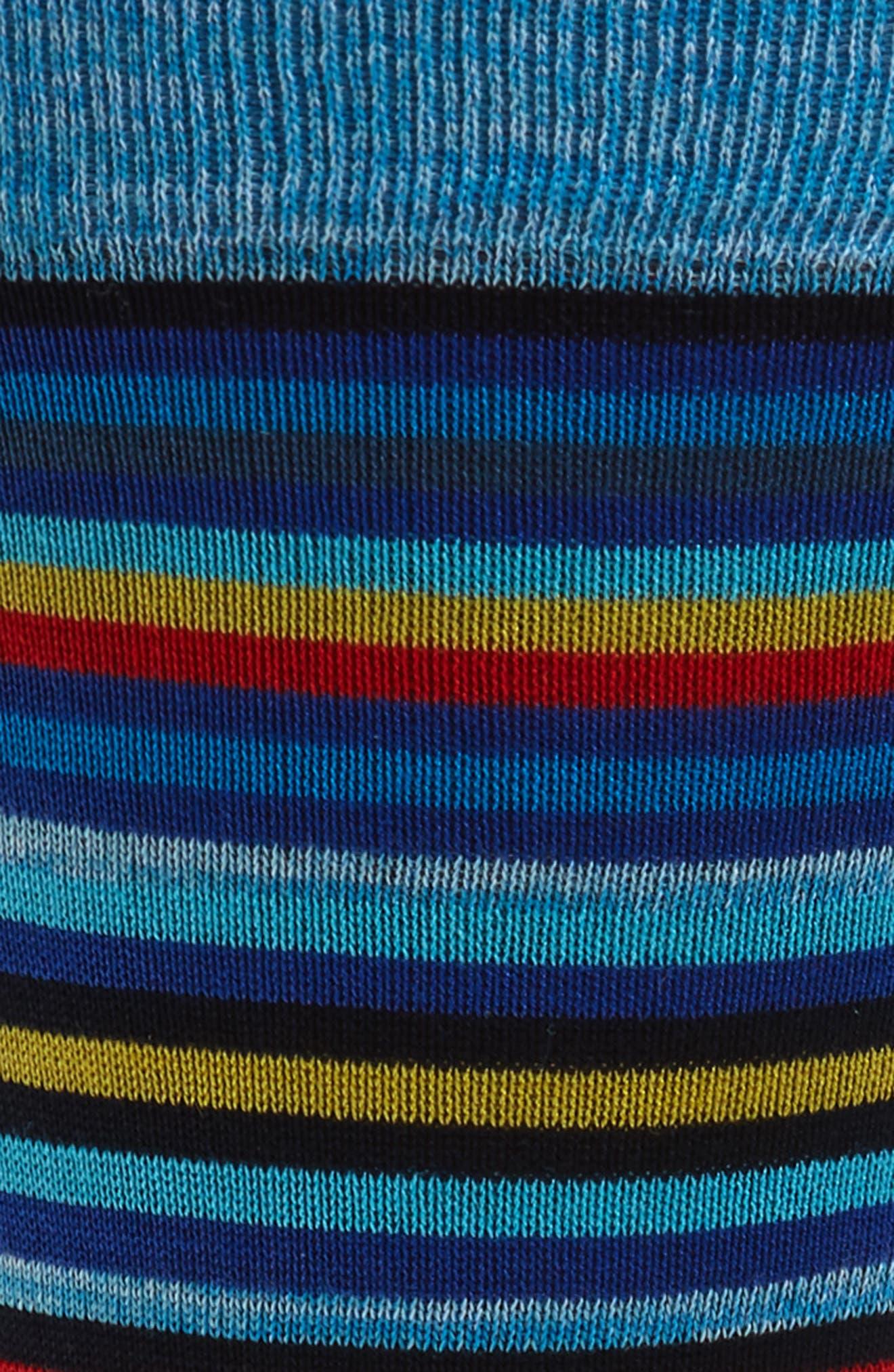 Stripe Mercerized Cotton Blend Socks,                             Alternate thumbnail 2, color,                             Aqua