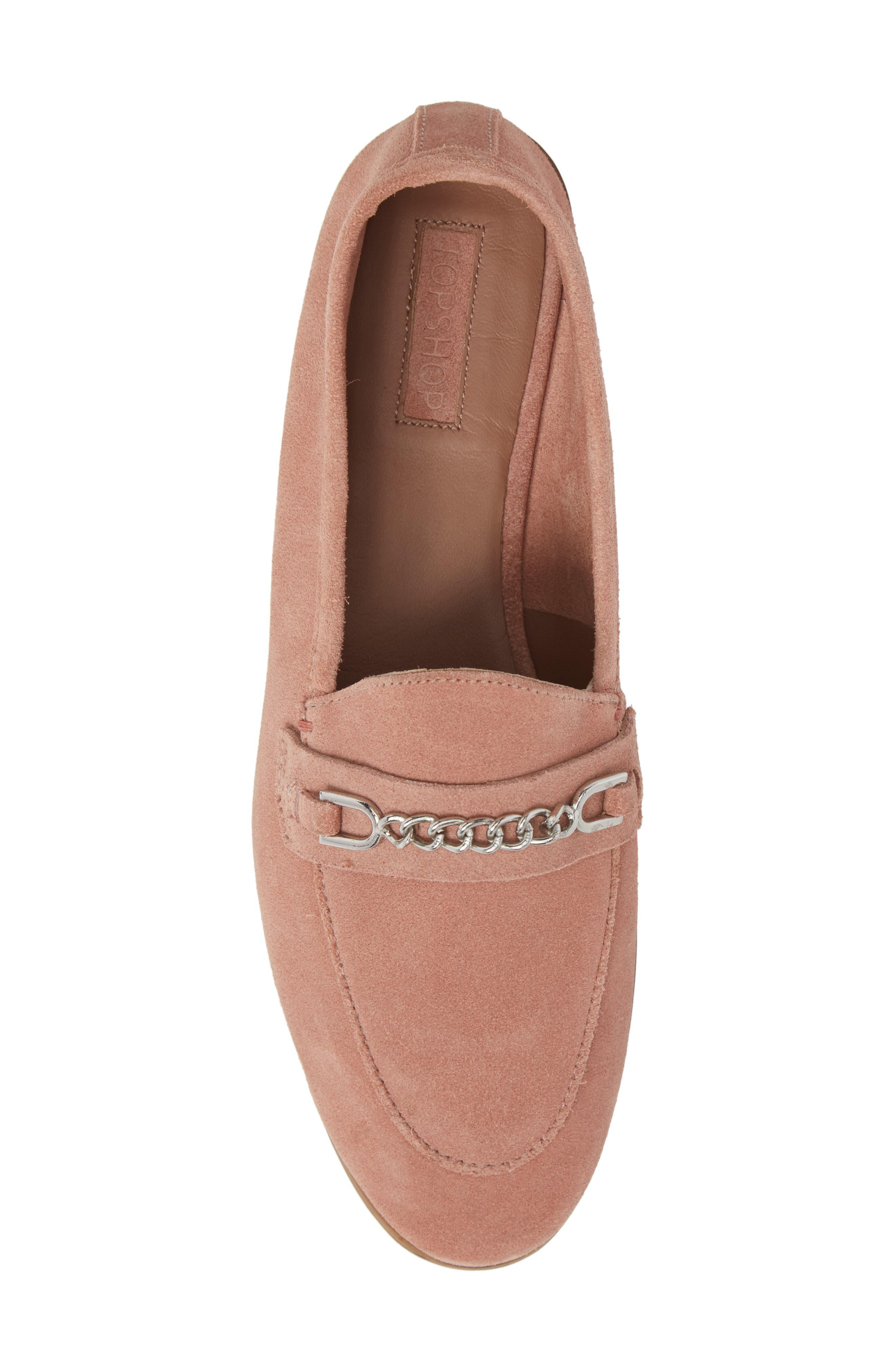 Key Trim Chain Loafer,                             Alternate thumbnail 5, color,                             Pink Multi