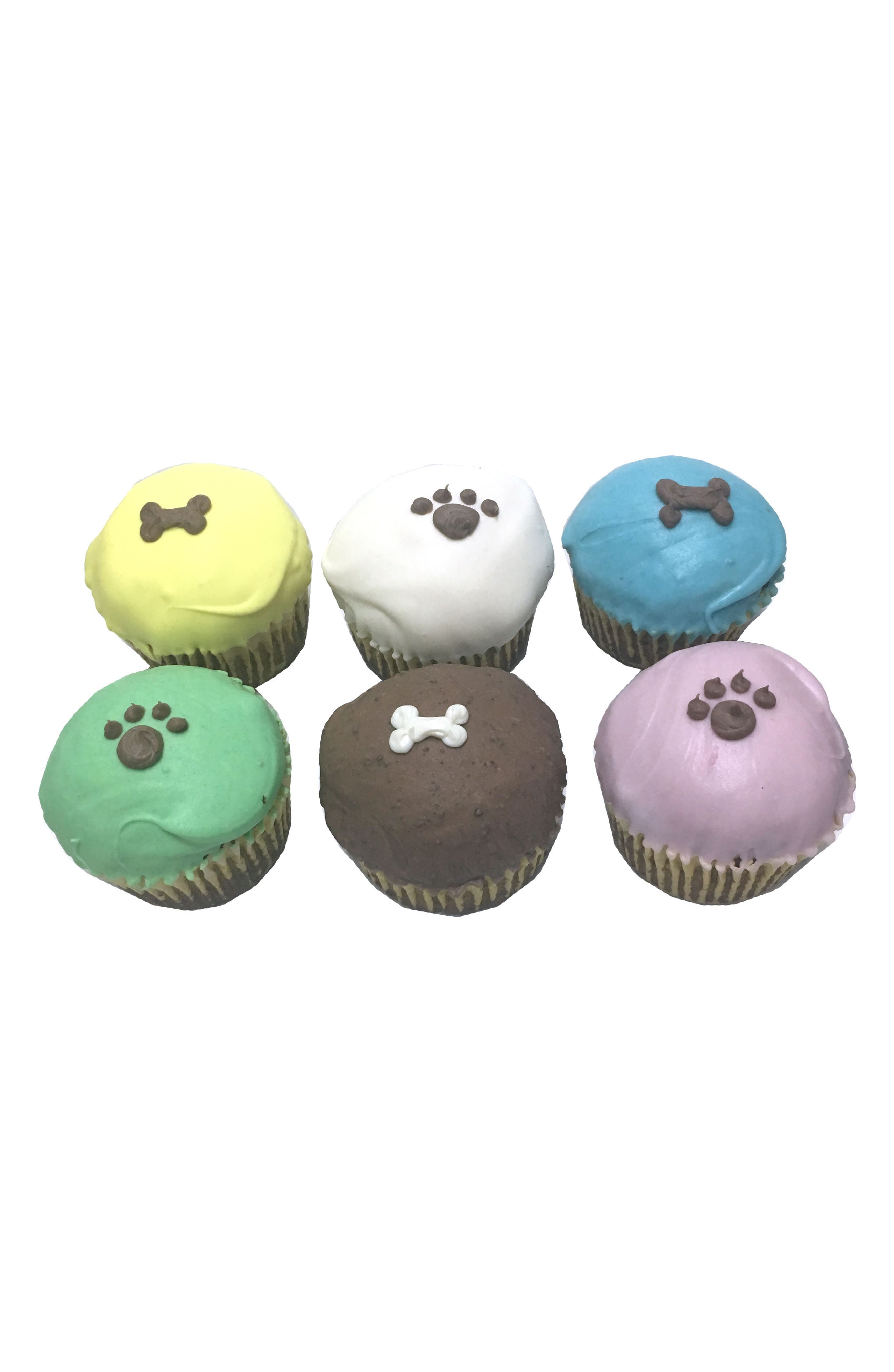 Bubba Rose Biscuit Company 6-Pack Classic Cupcake Dog Treats,                             Main thumbnail 1, color,                             Asst