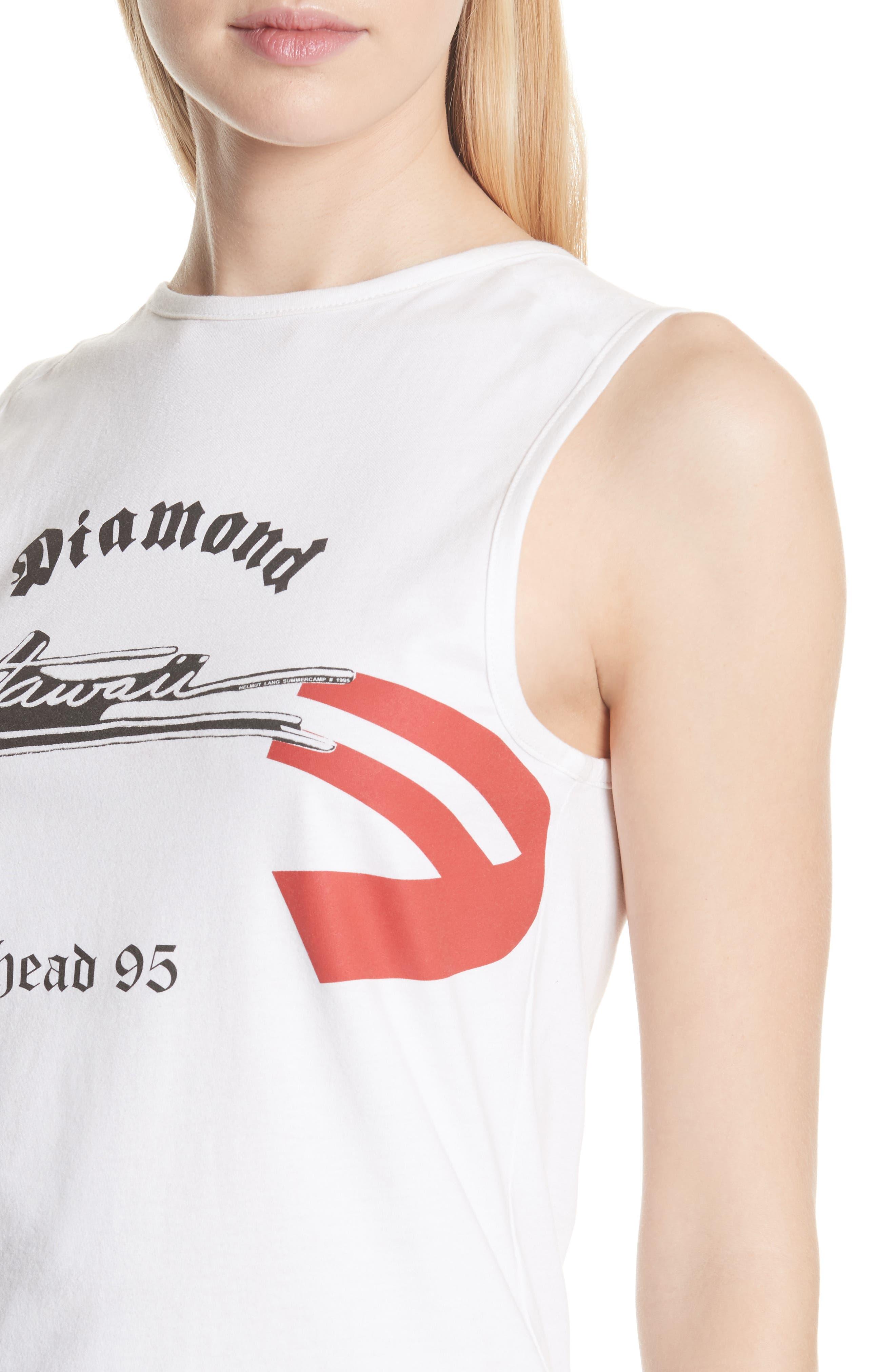 Diamond Head Graphic Muscle Tank,                             Alternate thumbnail 4, color,                             White