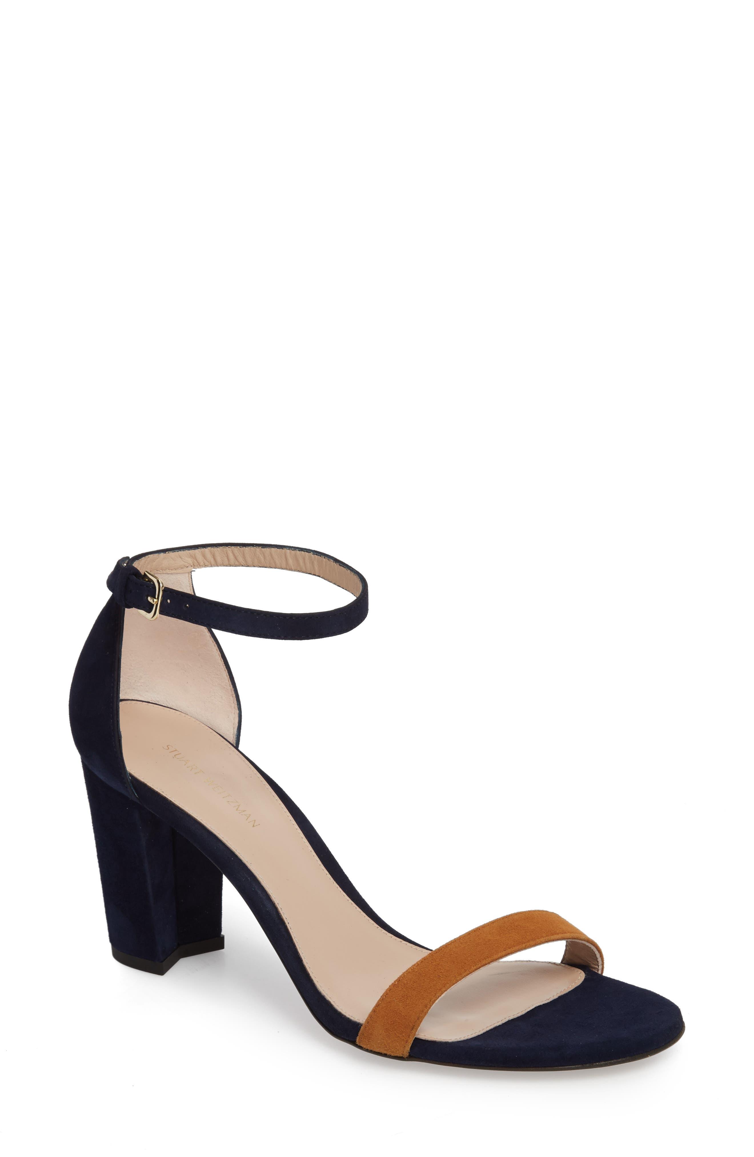 Alternate Image 1 Selected - Stuart Weitzman NearlyNude Ankle Strap Sandal (Women)