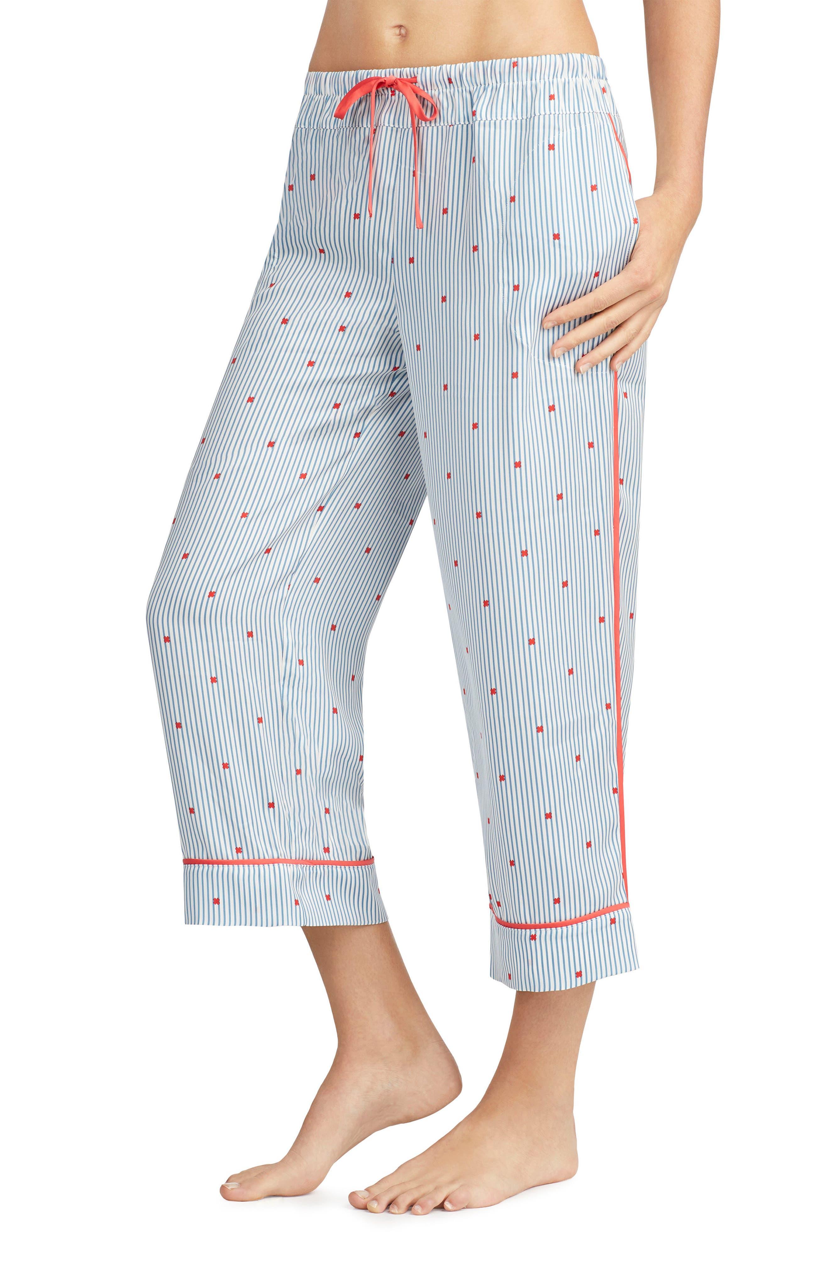 Alternate Image 2  - Room Service Crop Satin Pajama Pants