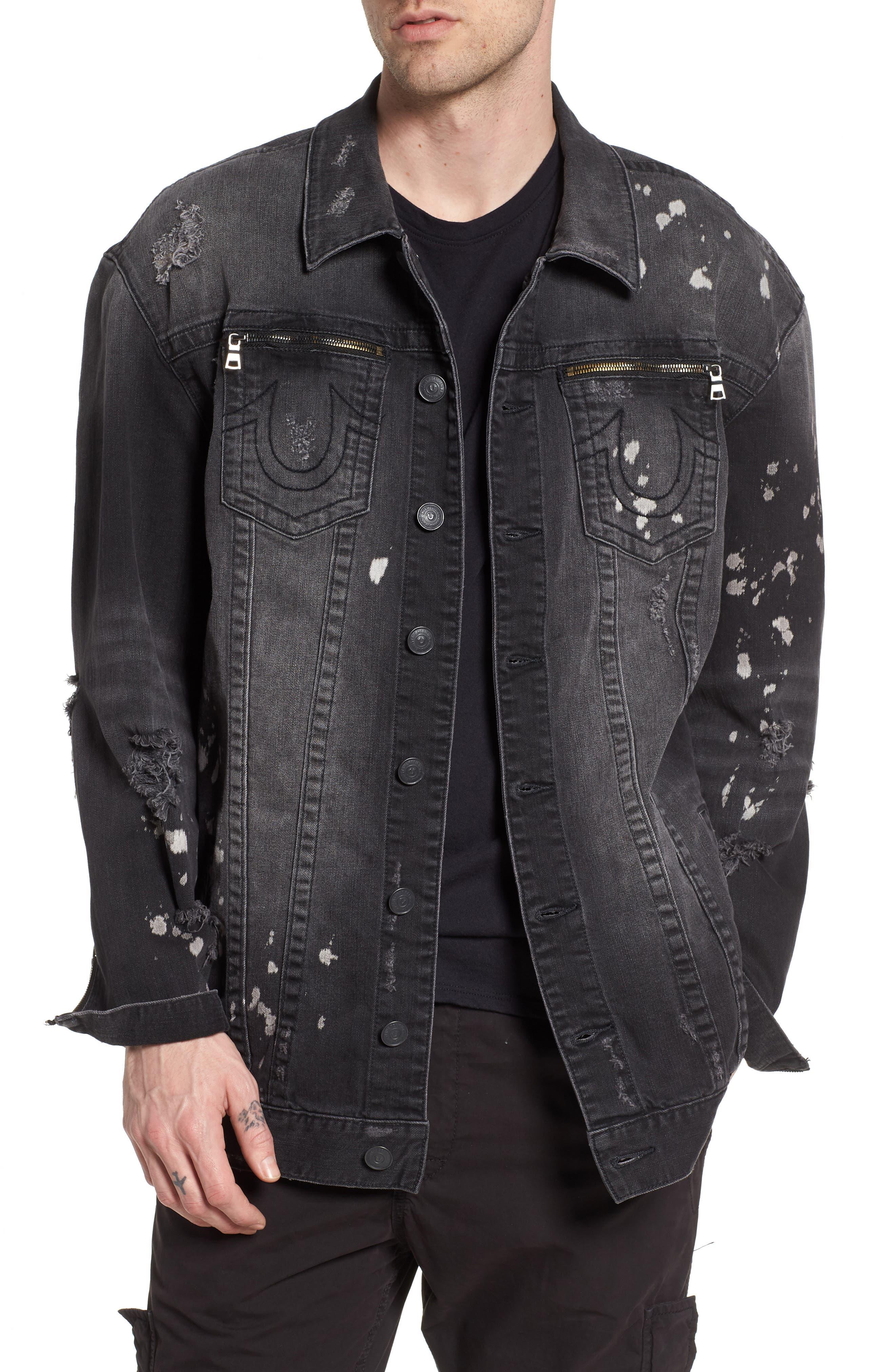 Turner Denim Jacket,                         Main,                         color, Epam Dark Cyber Rebel