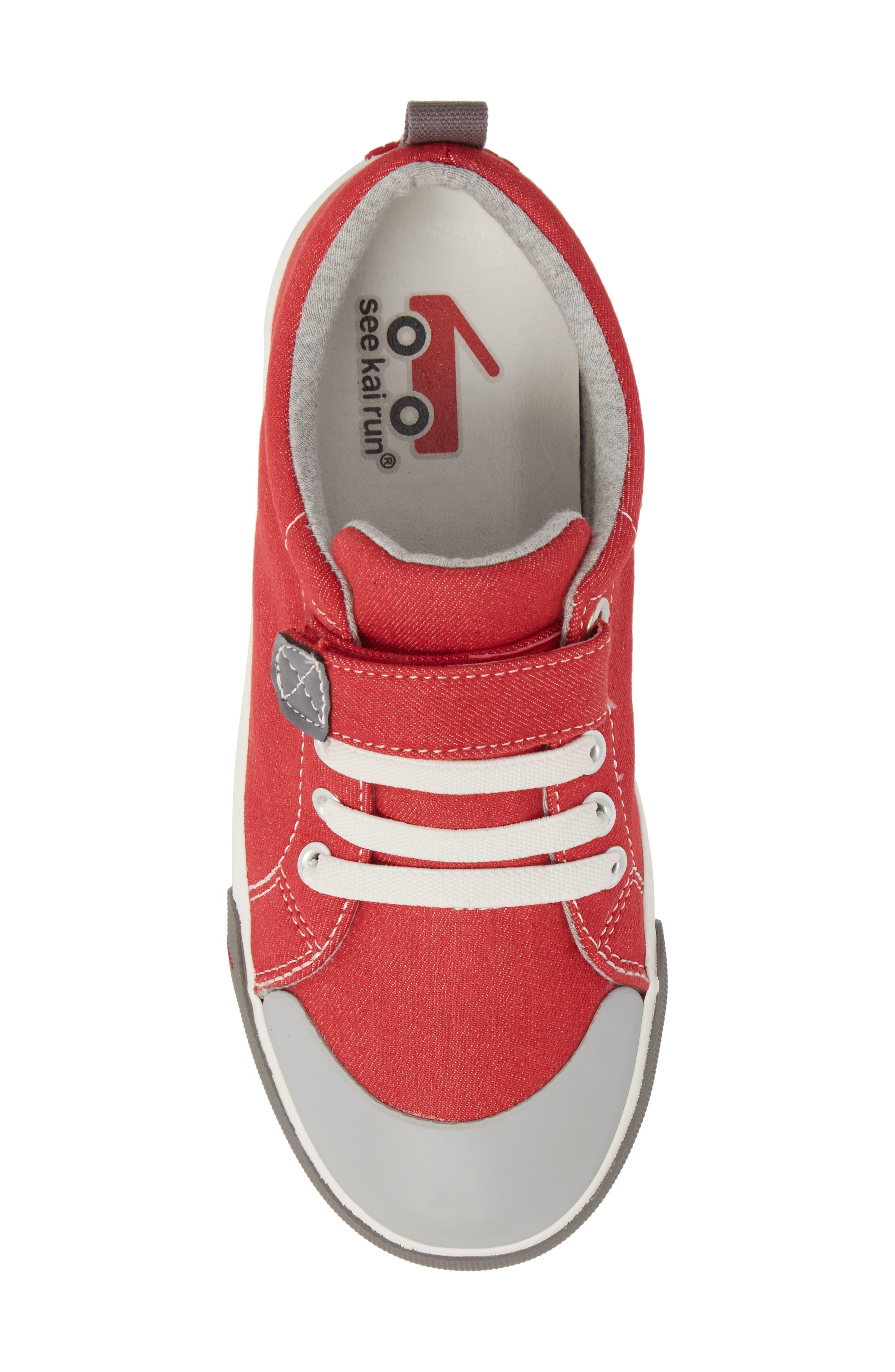 Stevie II Sneaker,                             Alternate thumbnail 5, color,                             Red/ Gray