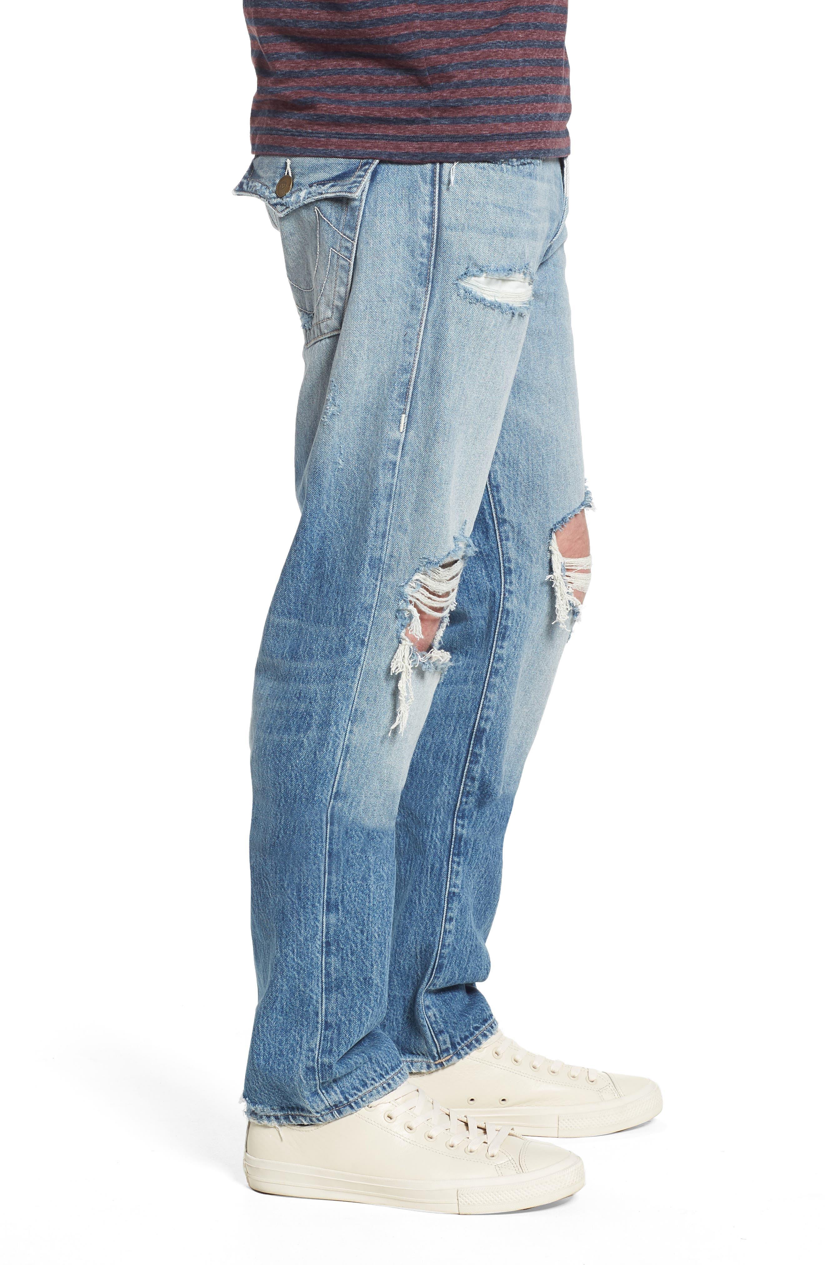 Geno Straight Leg Jeans,                             Alternate thumbnail 3, color,                             Eqnm Delinguent