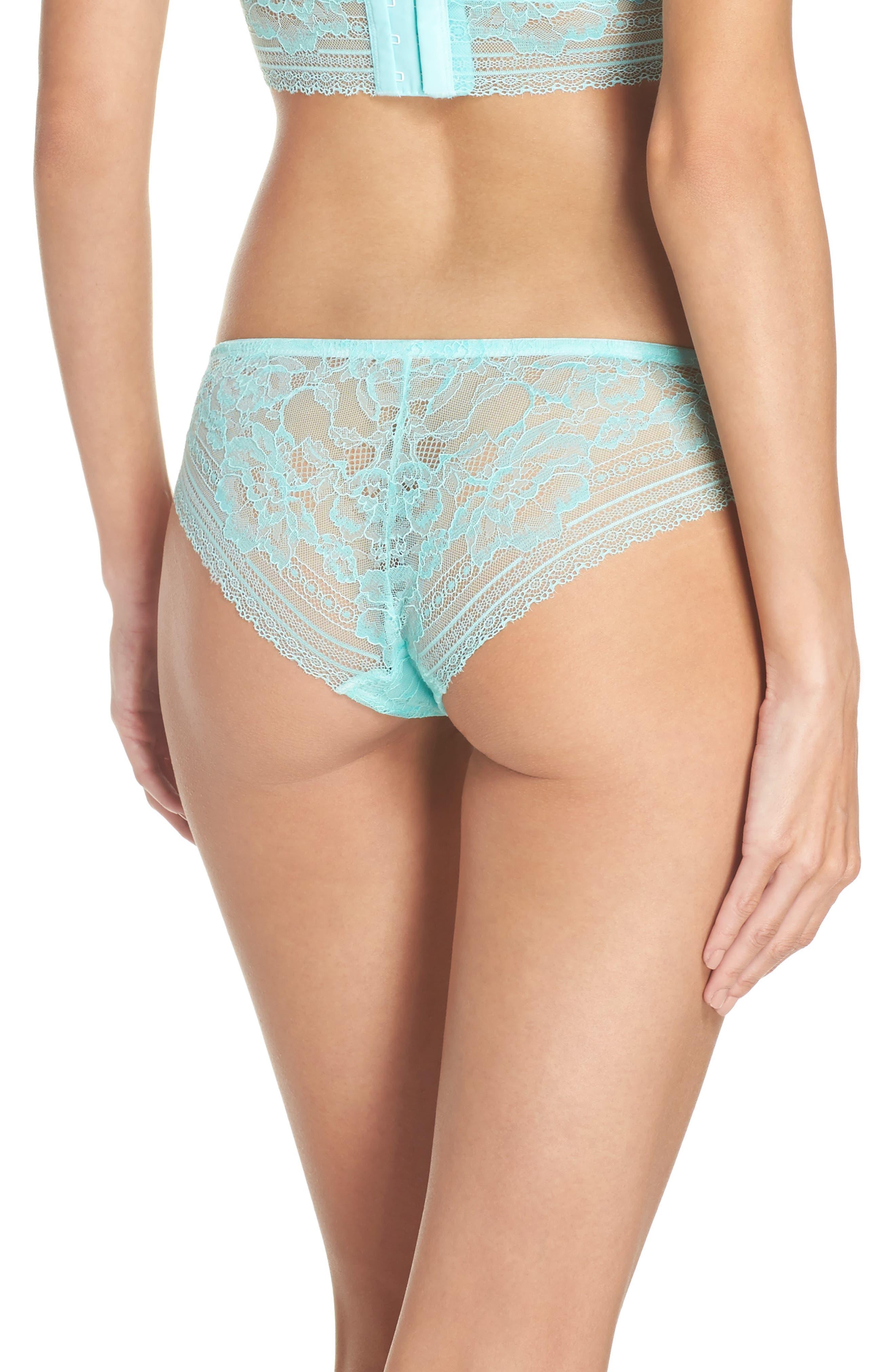 Intimately FP Sorento Lace Bikini,                             Alternate thumbnail 2, color,                             Mint