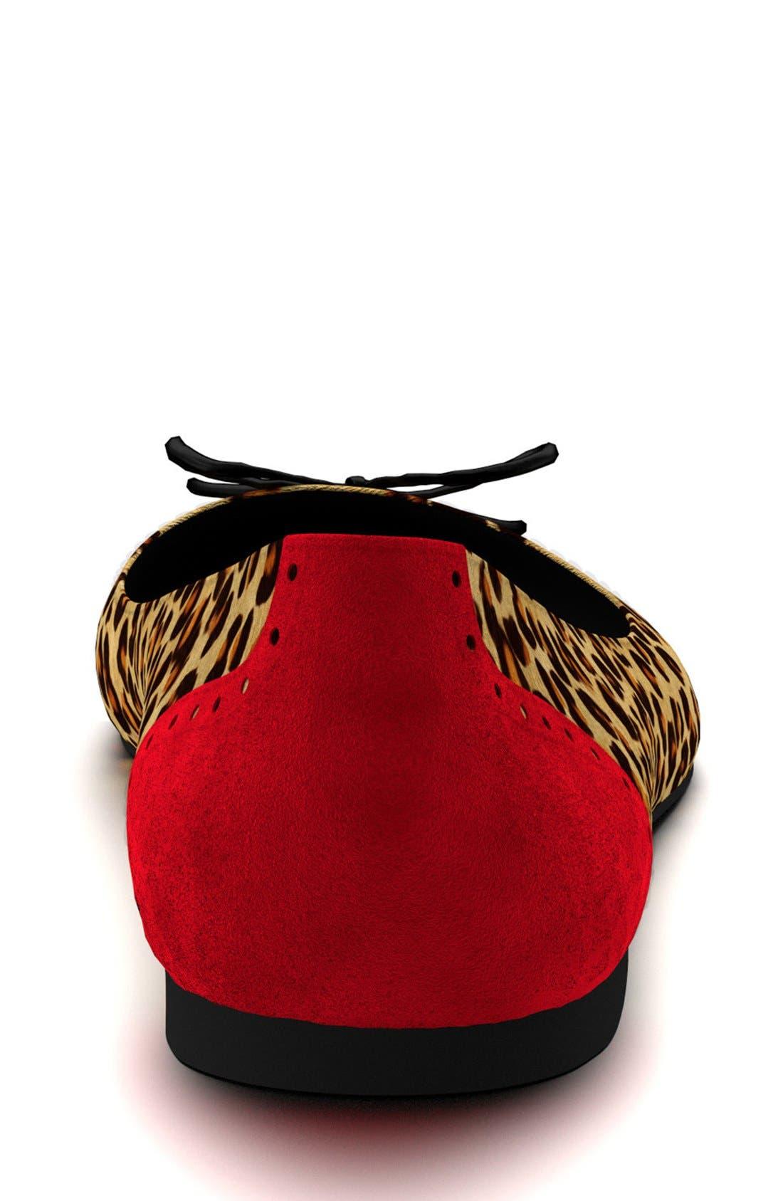 Alternate Image 4  - Shoes of Prey Cap Toe Genuine Calf Hair Ballet Flat (Women)