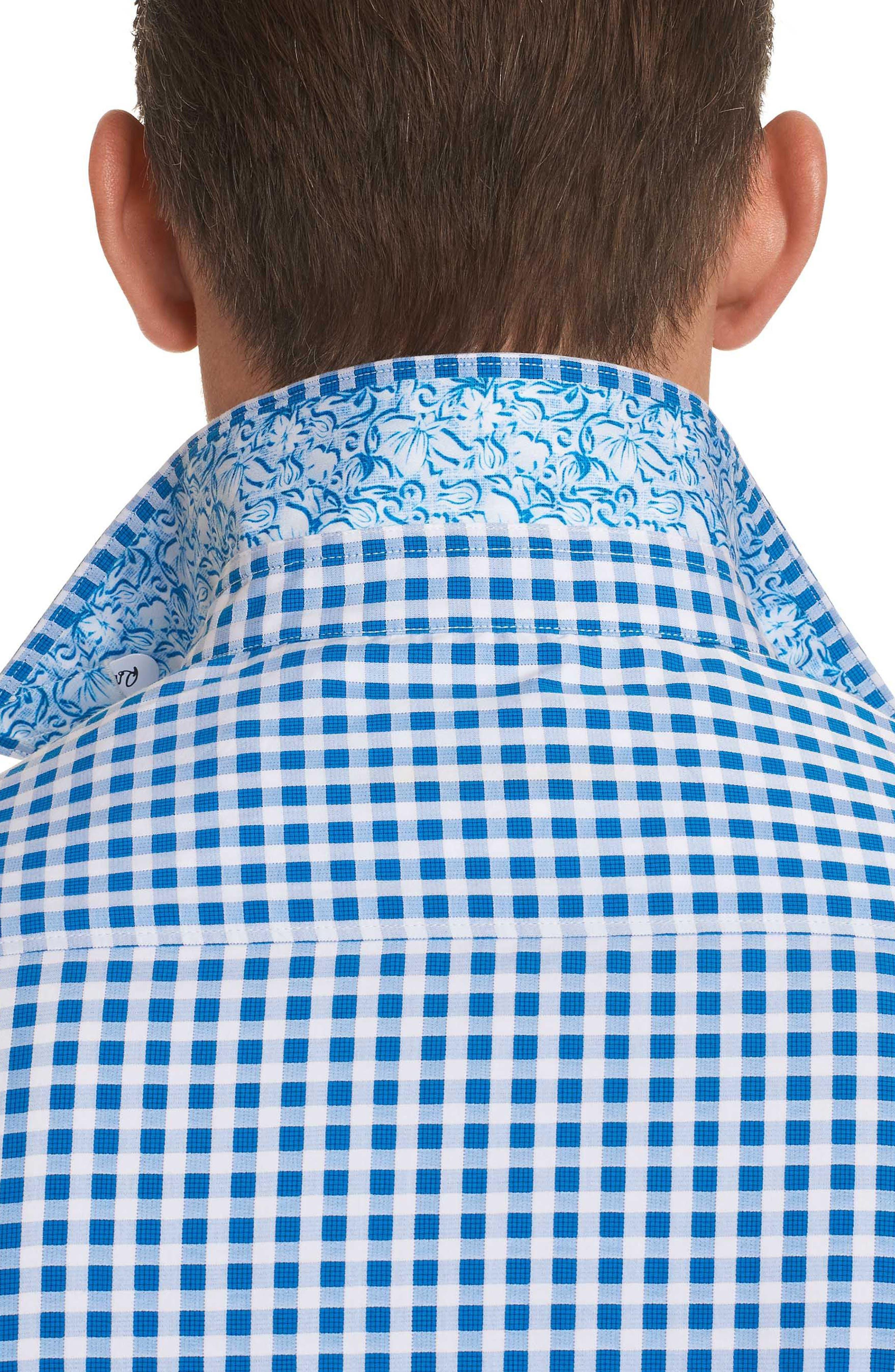 Morales Classic Fit Sport Shirt,                             Alternate thumbnail 3, color,                             Blue