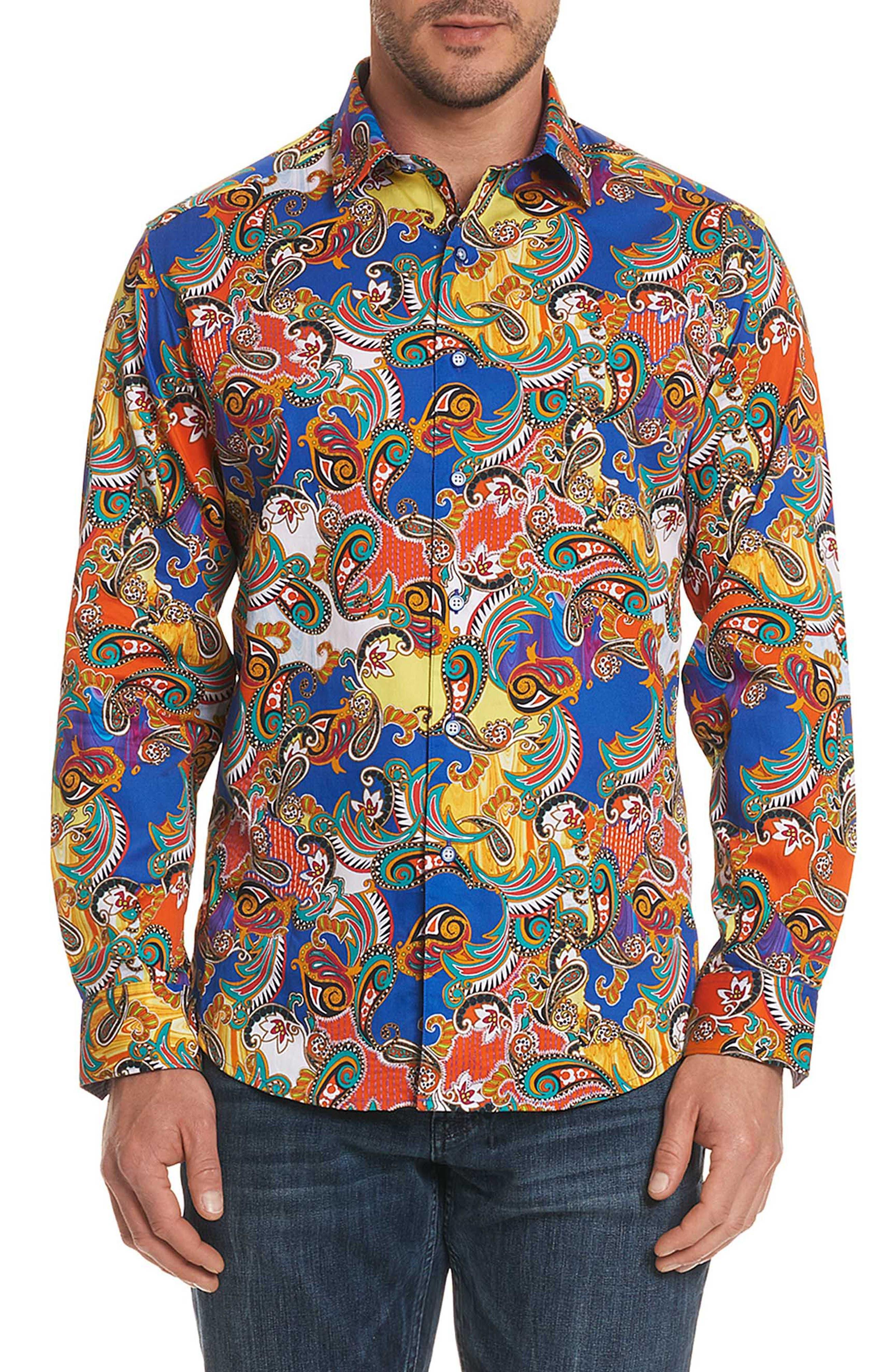 Acosta Classic Fit Sport Shirt,                         Main,                         color, Multi