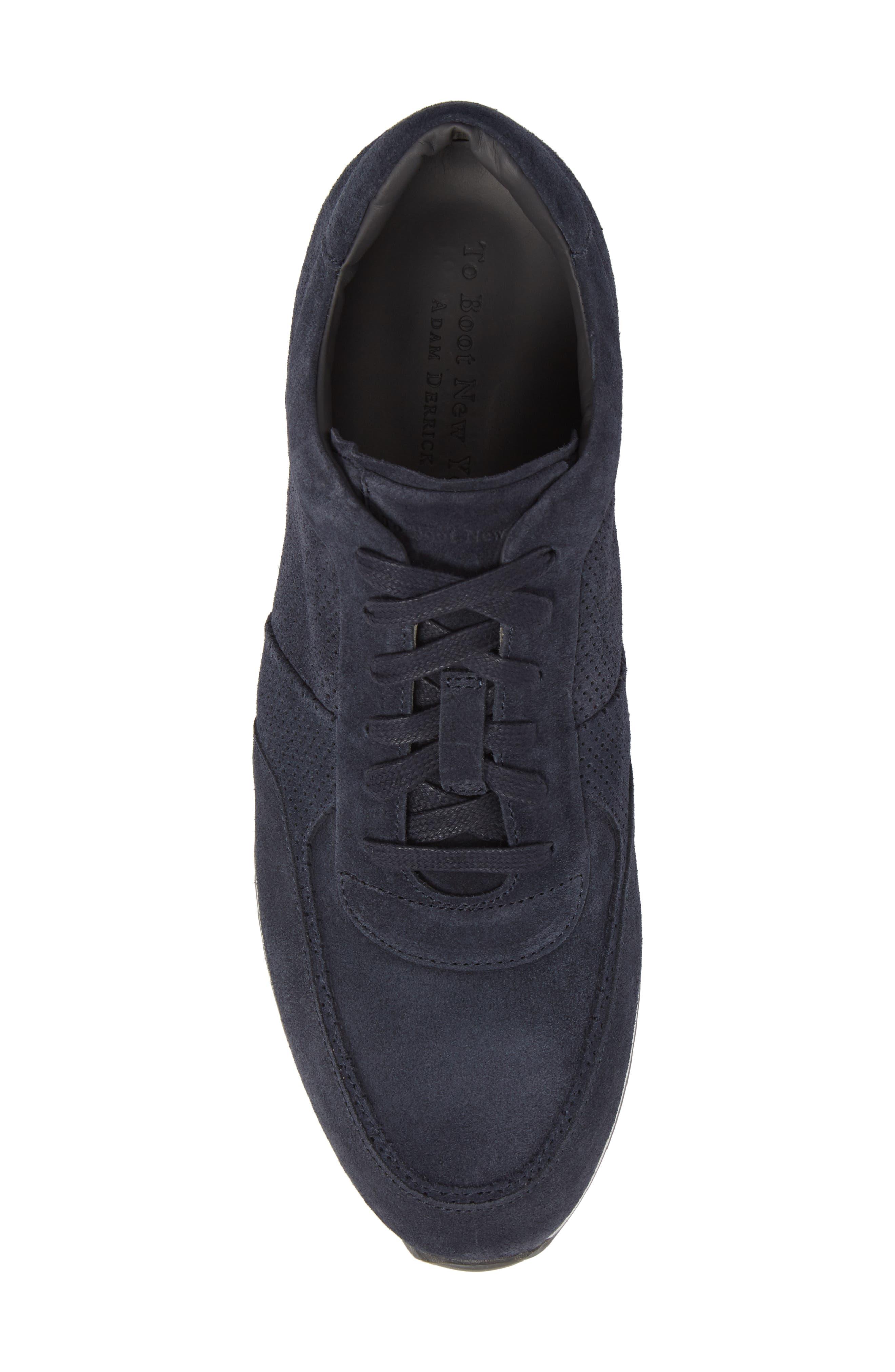 Fordham Low Top Sneaker,                             Alternate thumbnail 5, color,                             Space Blue Suede