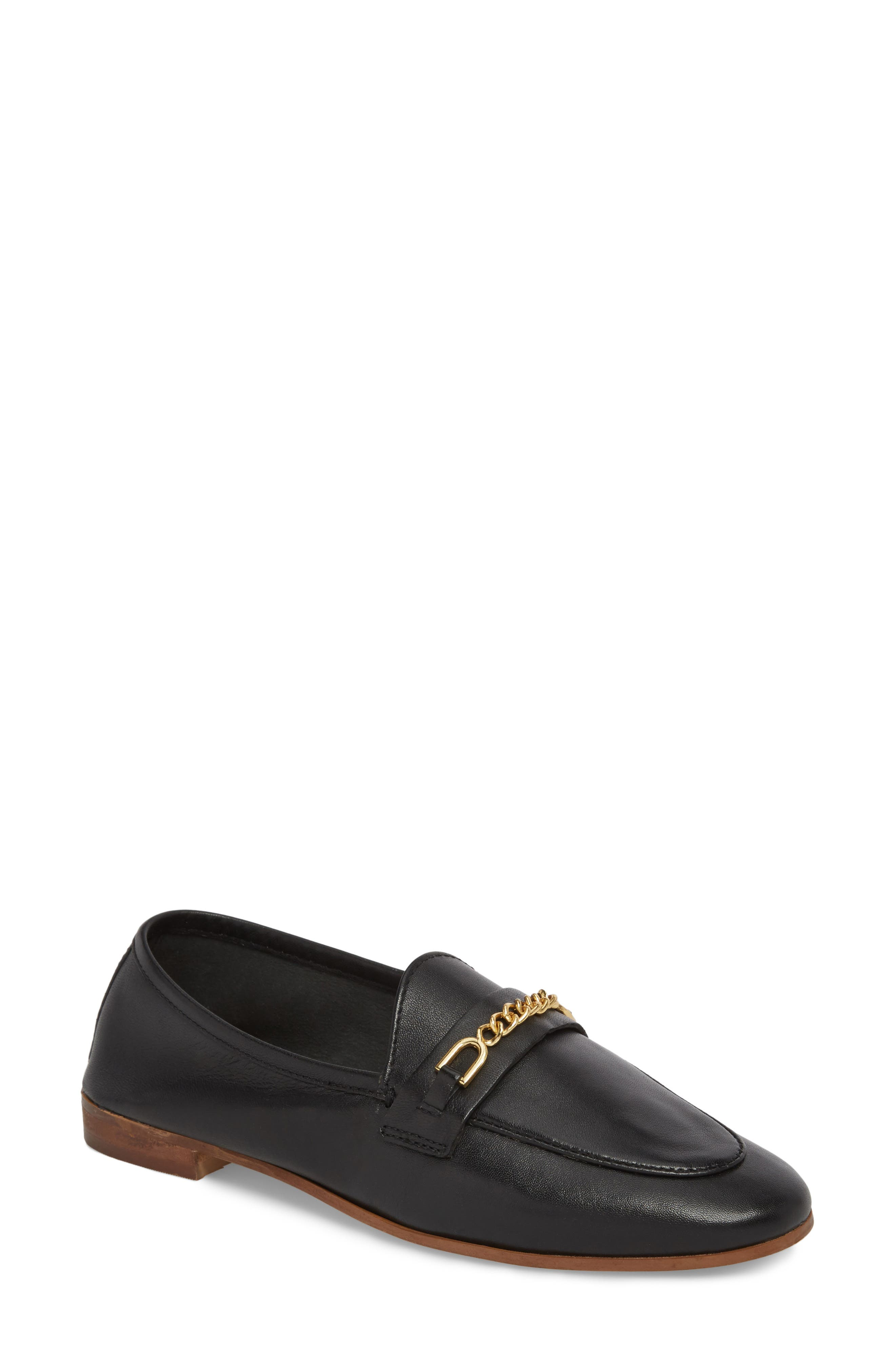 Topshop Key Trim Chain Loafer (Women)