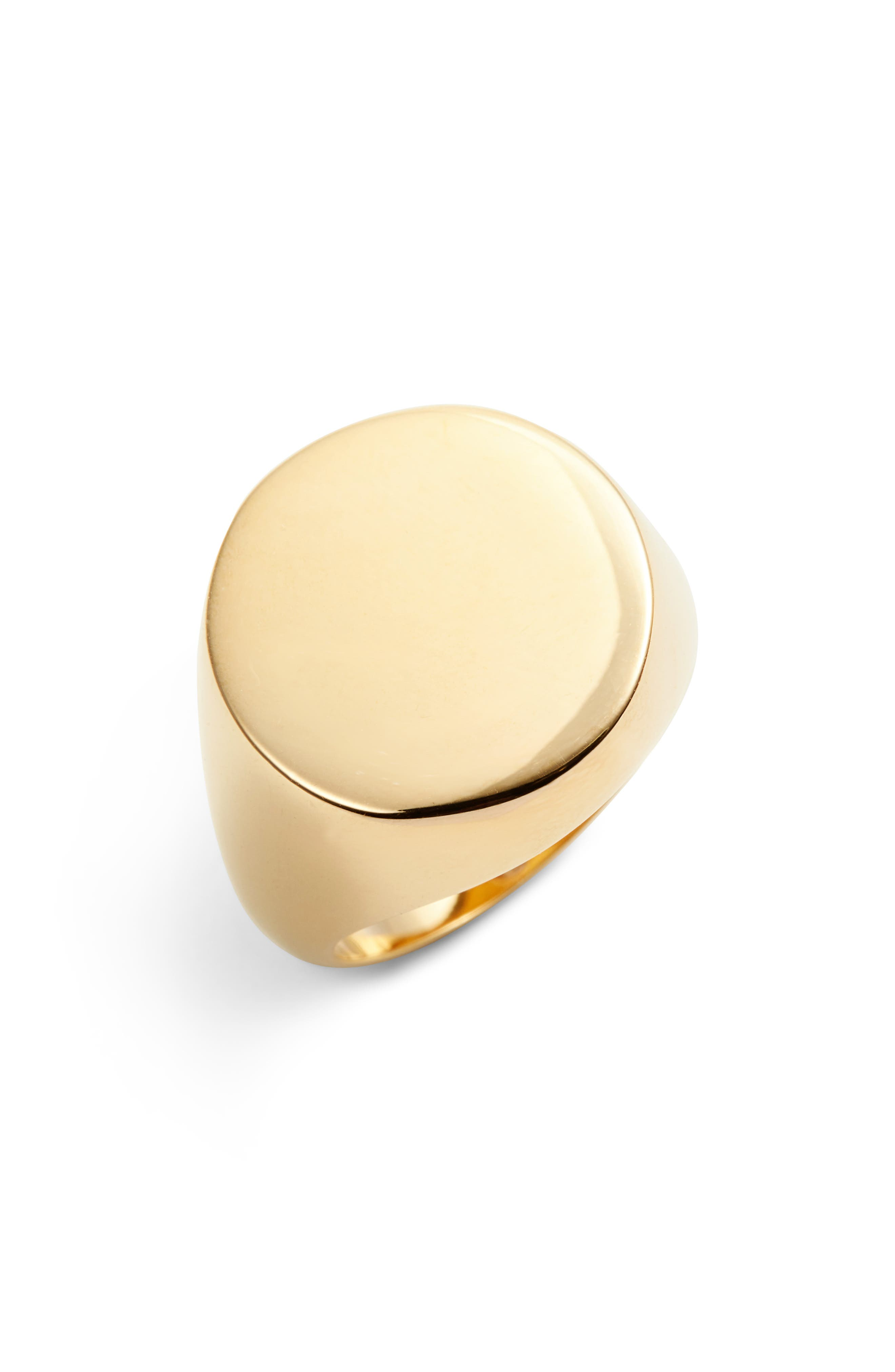Vince Camuto Round Signet Ring