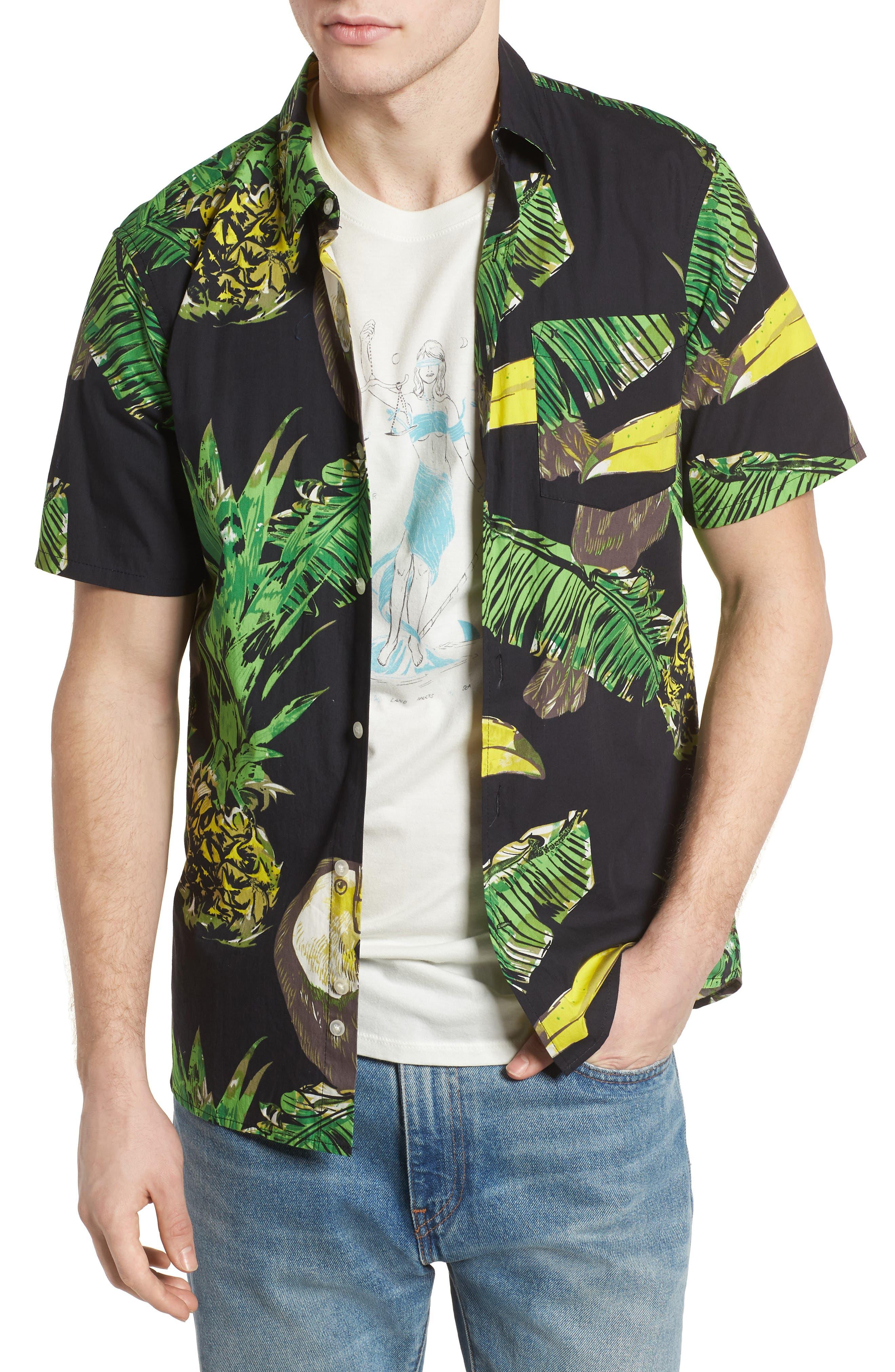 Toucan Shirt,                             Main thumbnail 1, color,                             Black