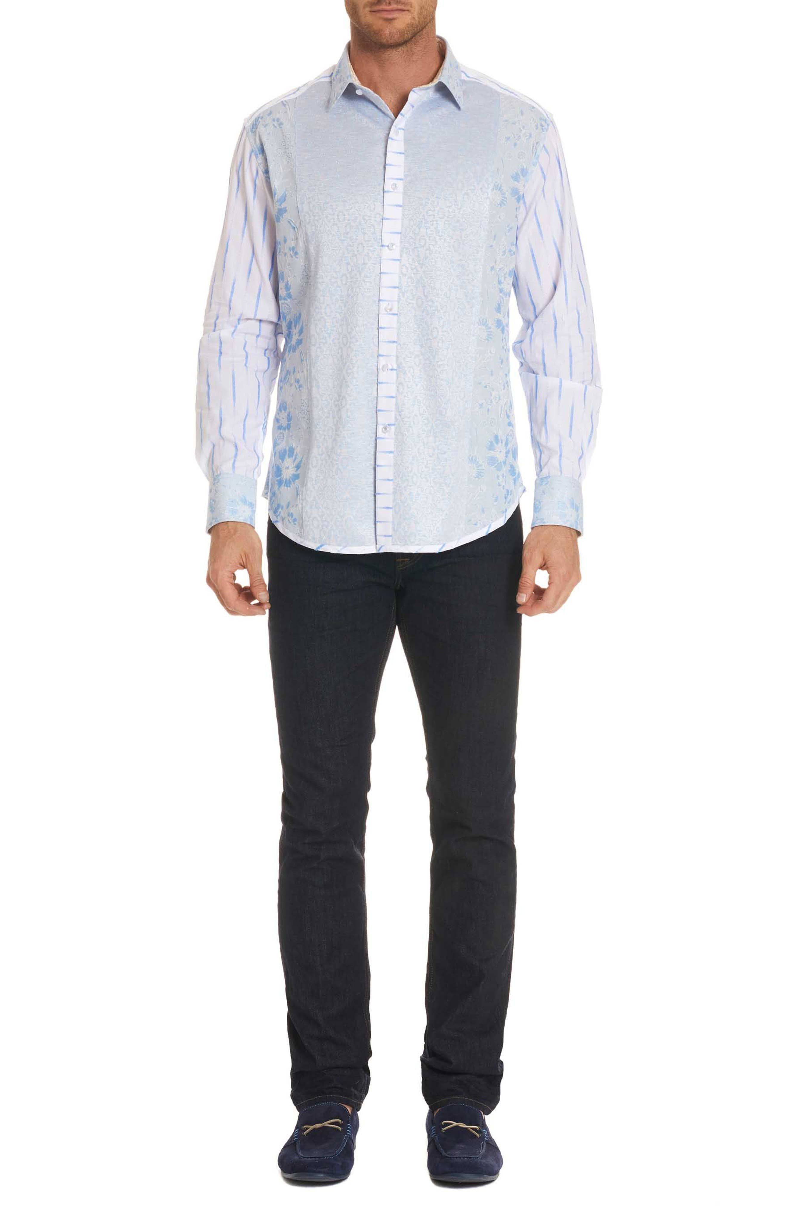 Ryan Limited Edition Classic Fit Sport Shirt,                             Alternate thumbnail 7, color,                             Blue