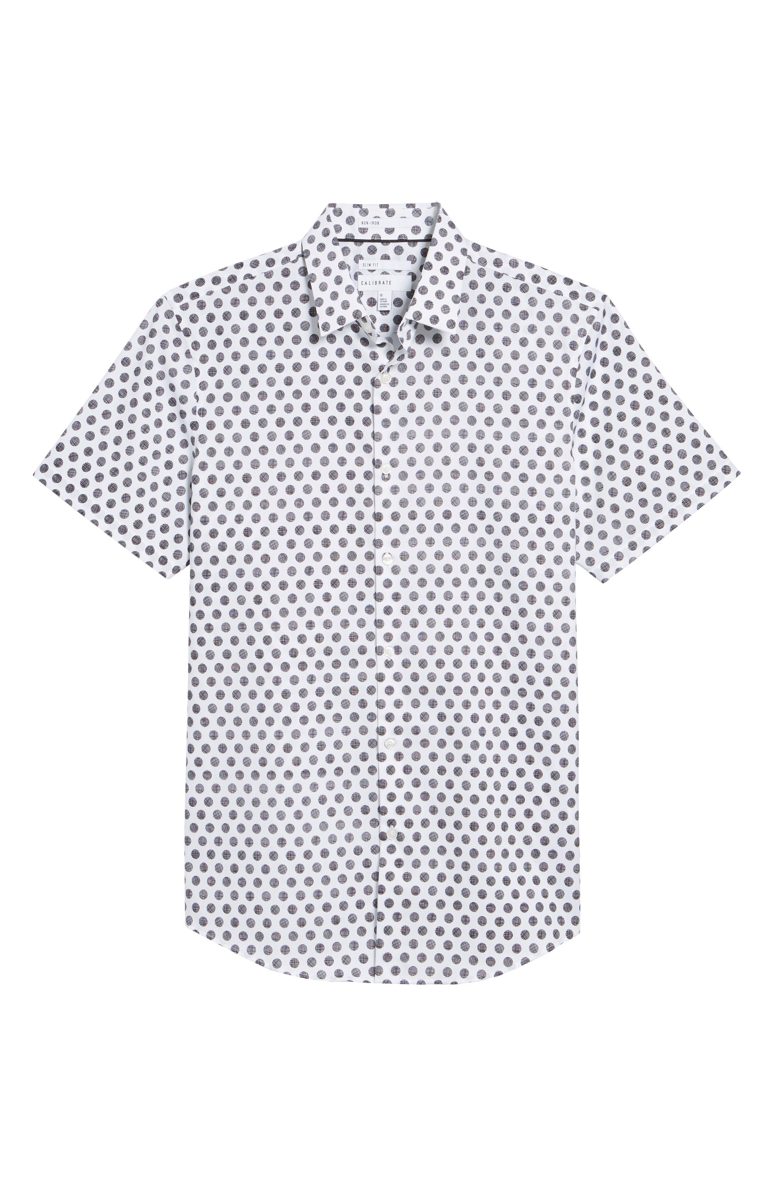 Dot Sport Shirt,                             Alternate thumbnail 6, color,                             White Black Hatch Dot