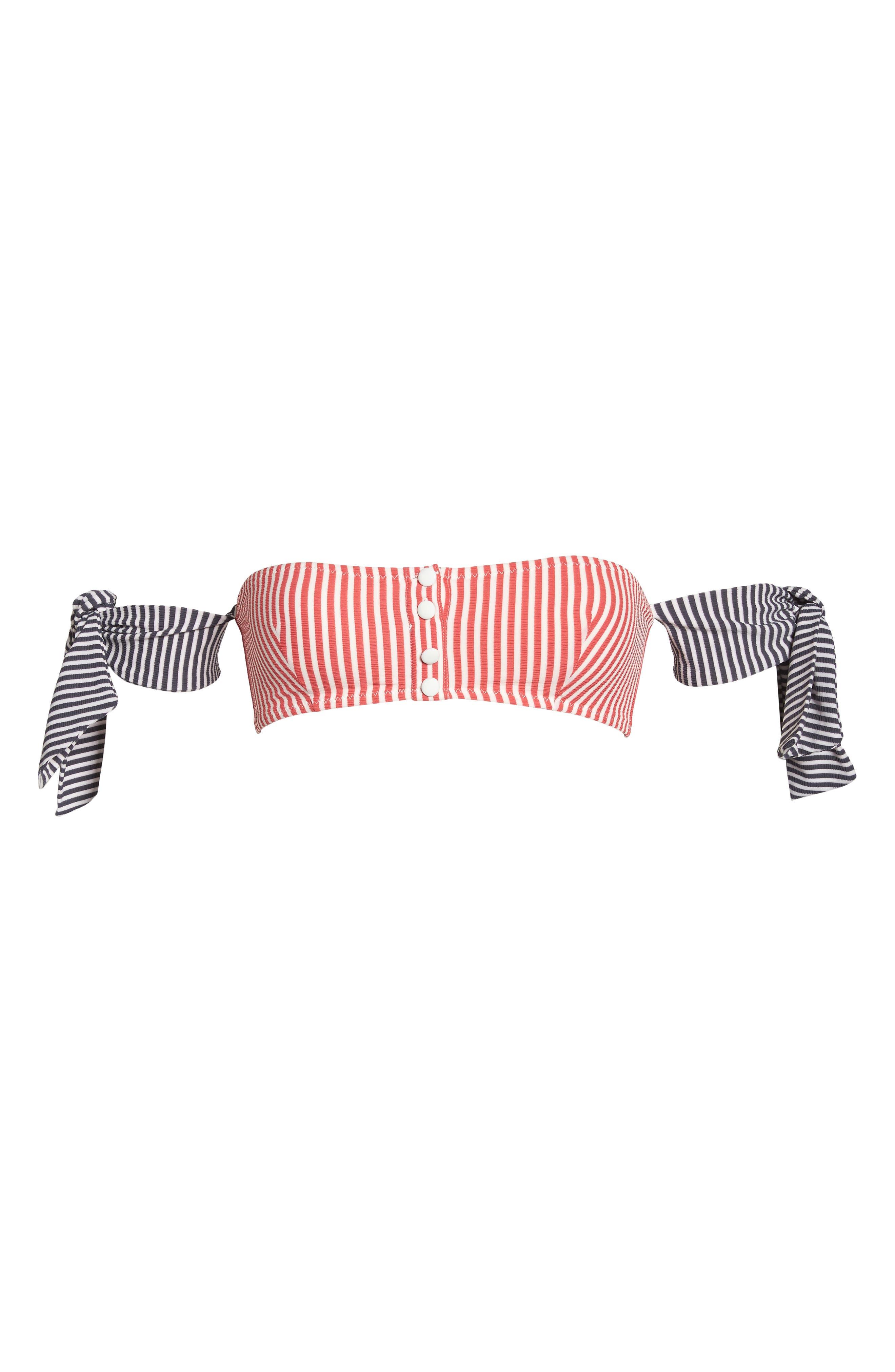 The Mackenzie Off the Shoulder Bikini Top,                             Alternate thumbnail 9, color,                             Red