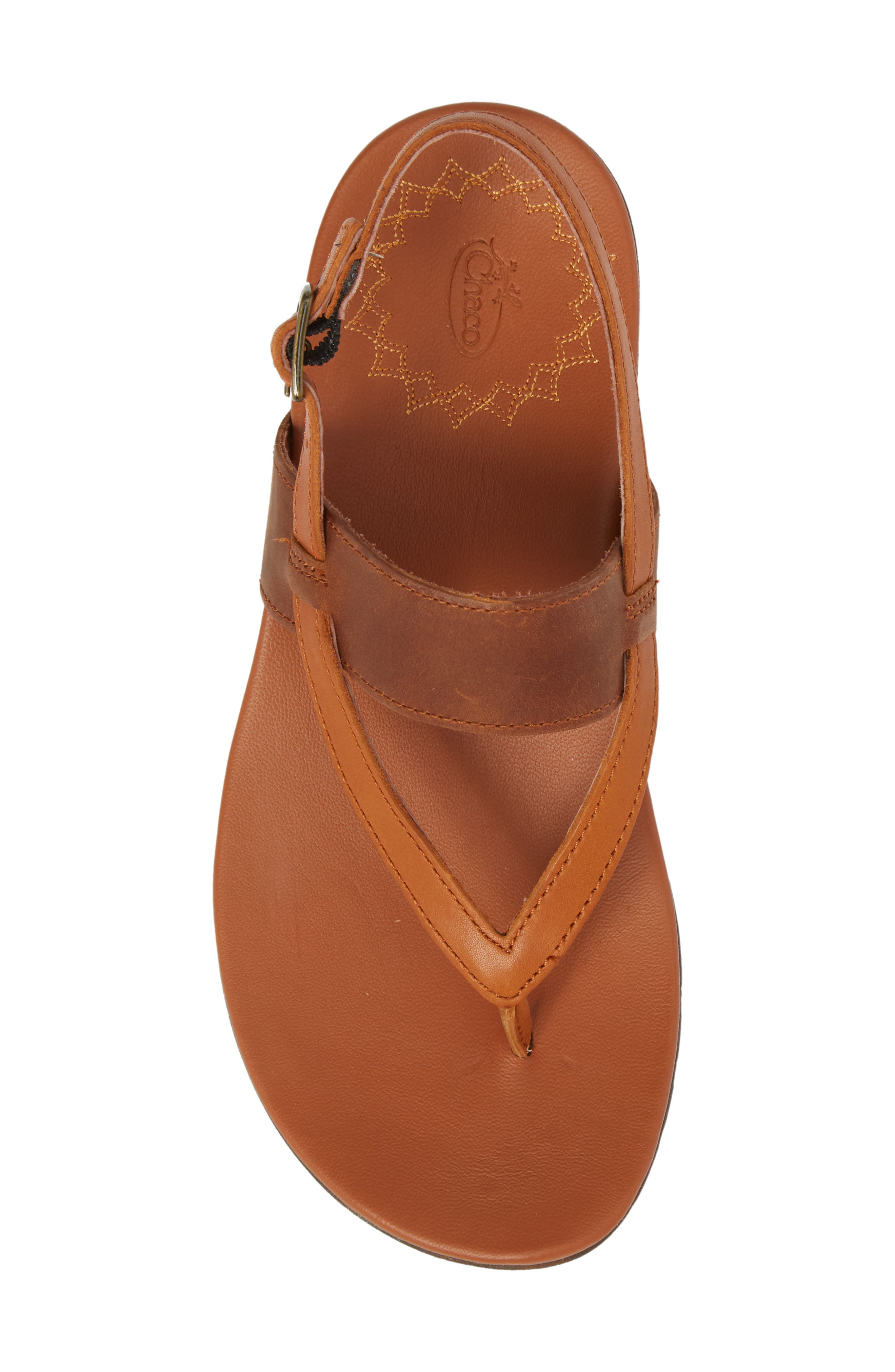 Maya II Sandal,                             Alternate thumbnail 5, color,                             Rust Leather