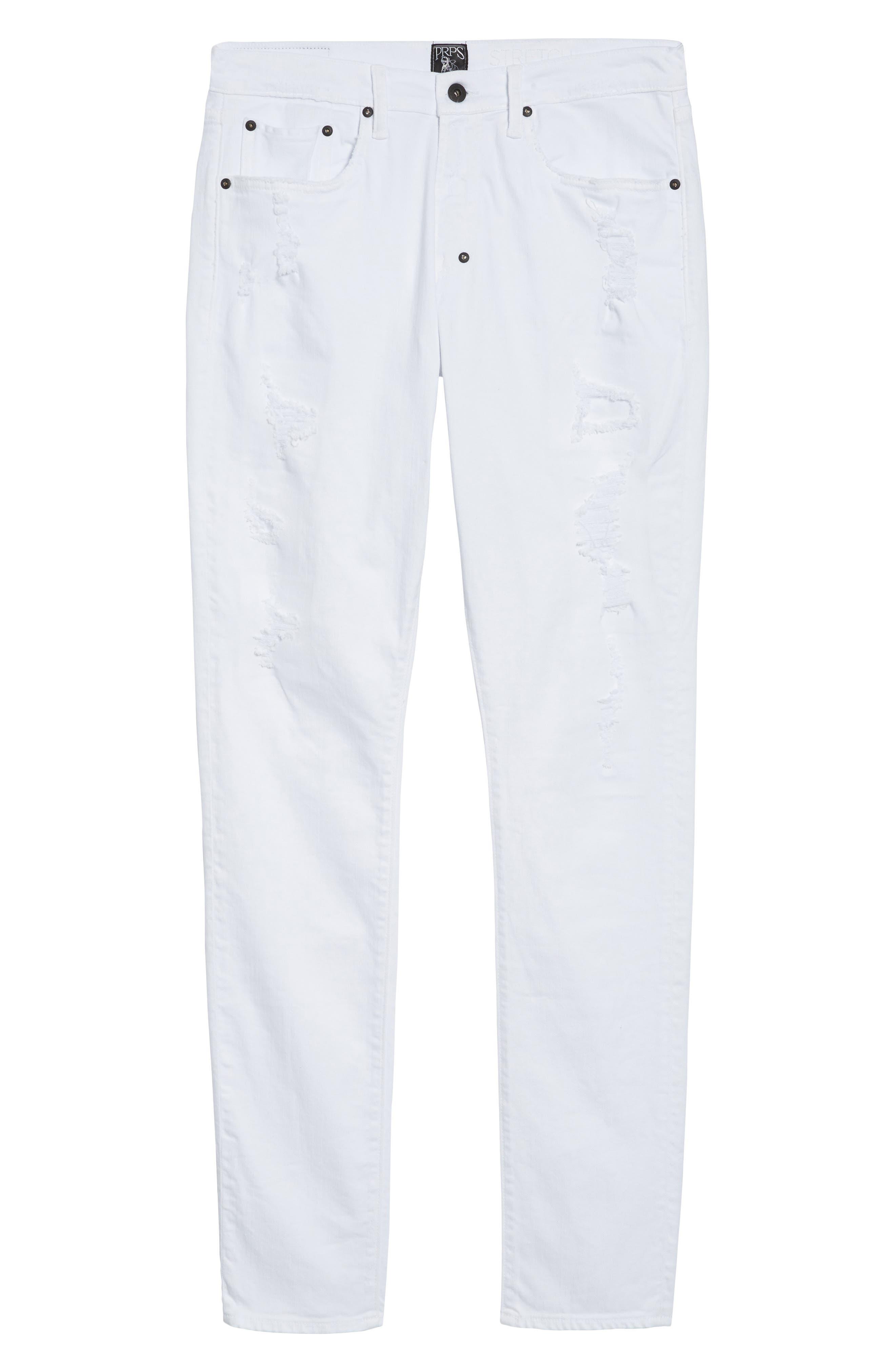 Windsor Slim Fit Jeans,                             Alternate thumbnail 6, color,                             Living White