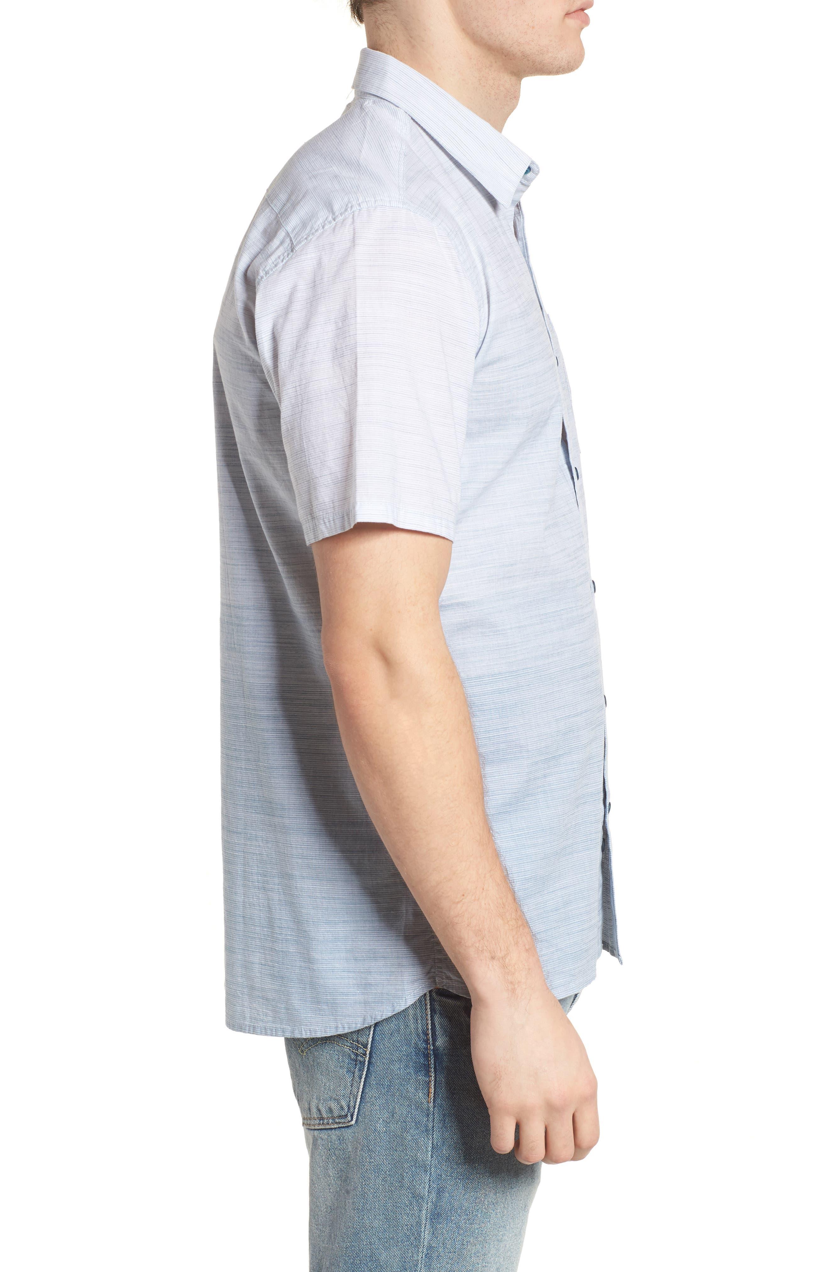 Hudson Woven Shirt,                             Alternate thumbnail 3, color,                             Noise Aqua
