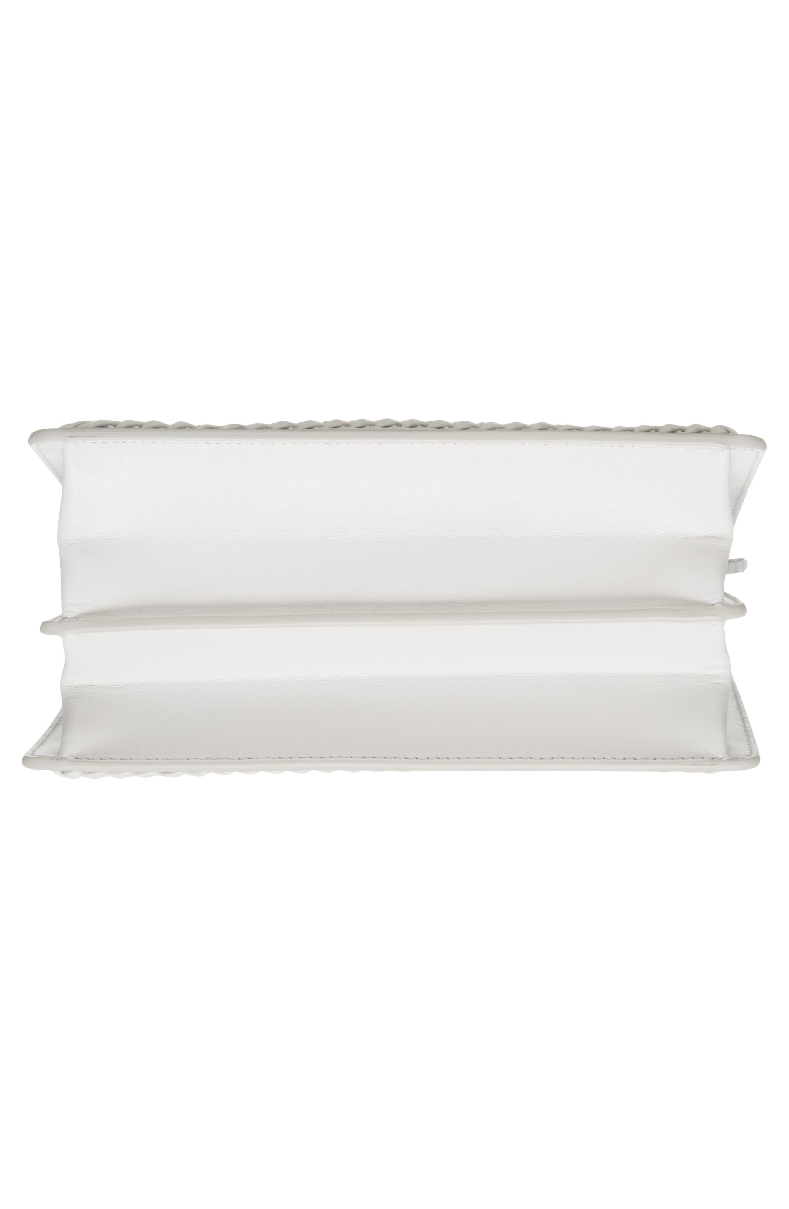 Thalia Gancio Leather Shoulder Bag,                             Alternate thumbnail 6, color,                             New Bianco Ottico