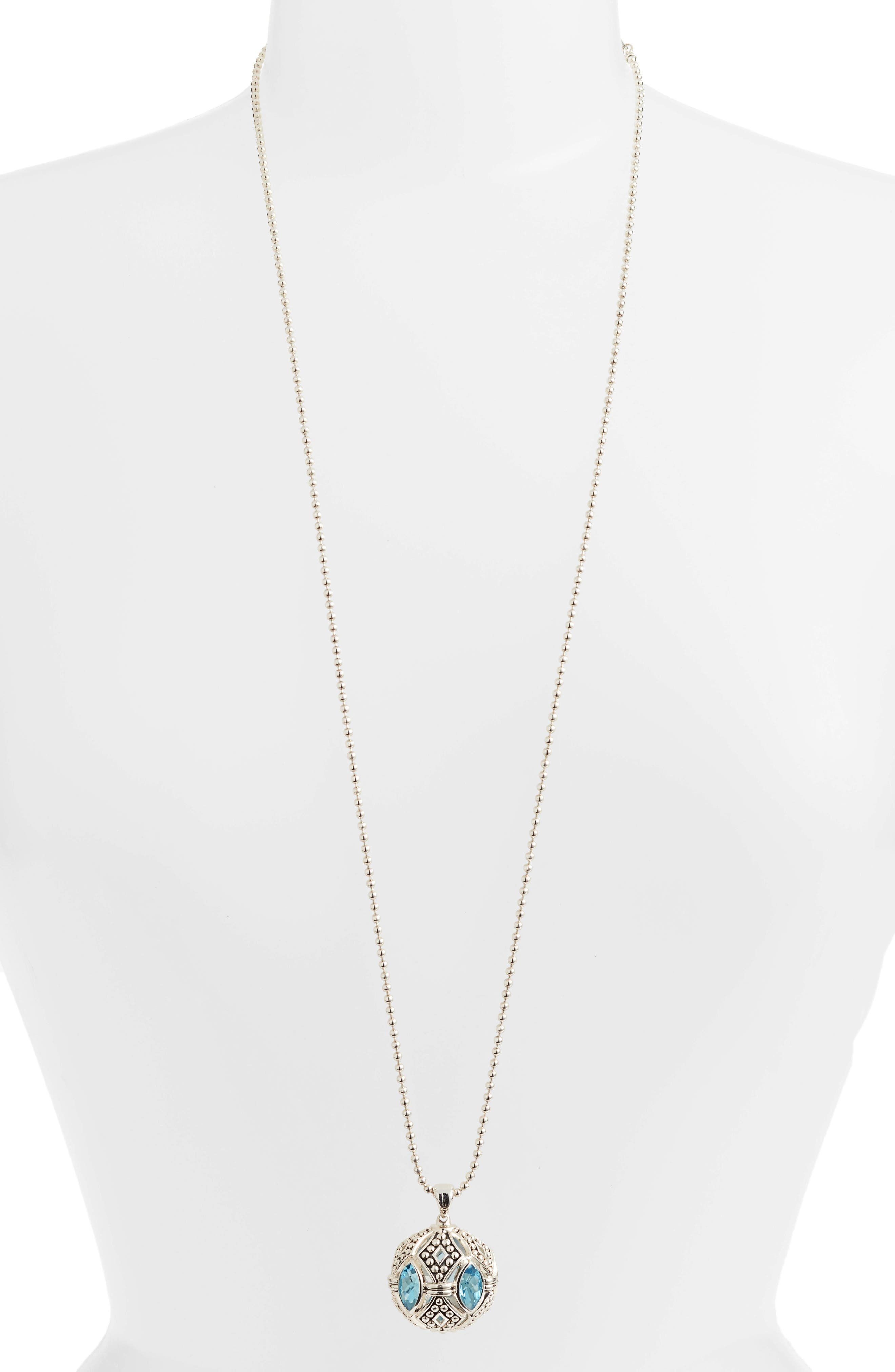 Alternate Image 2  - Lagos Signature Gifts Marquee Ball Pendant Necklace
