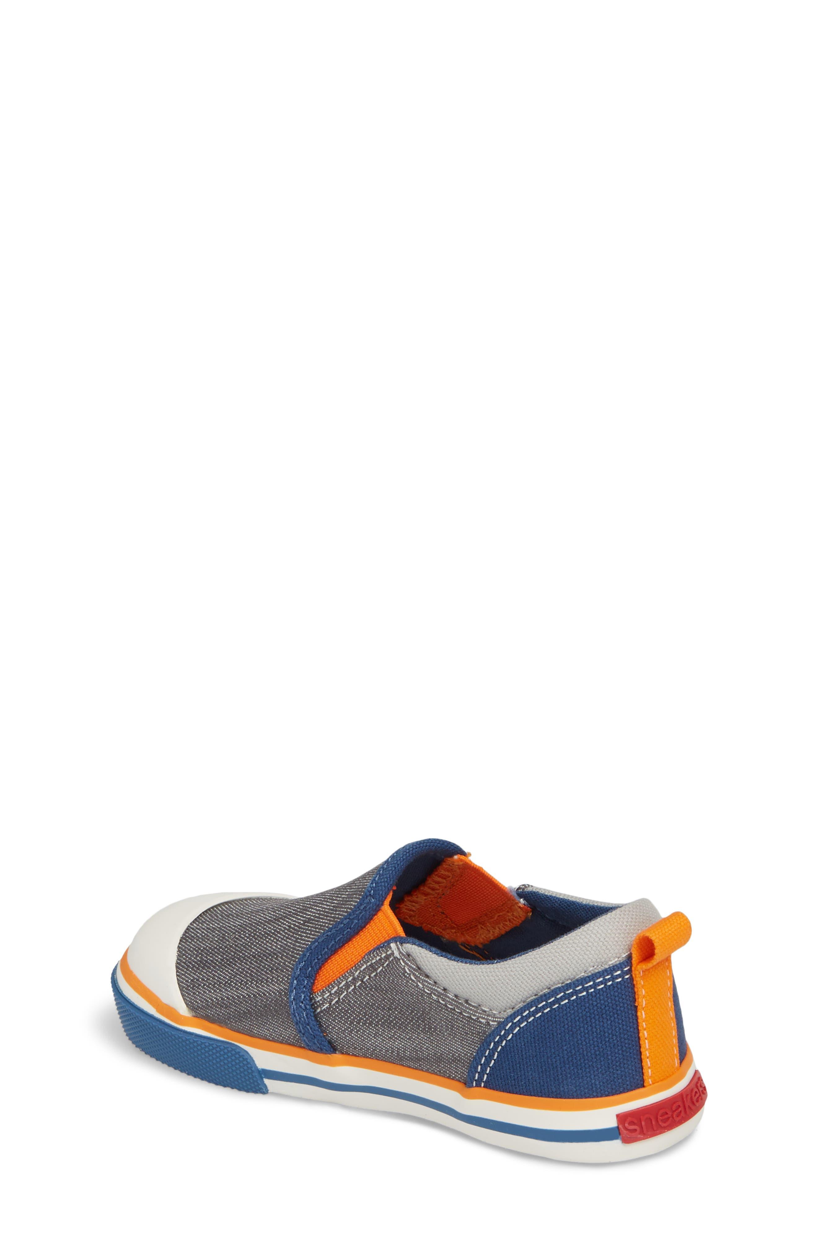 Slater Colorblock Slip-On Sneaker,                             Alternate thumbnail 2, color,                             Gray/ Blue